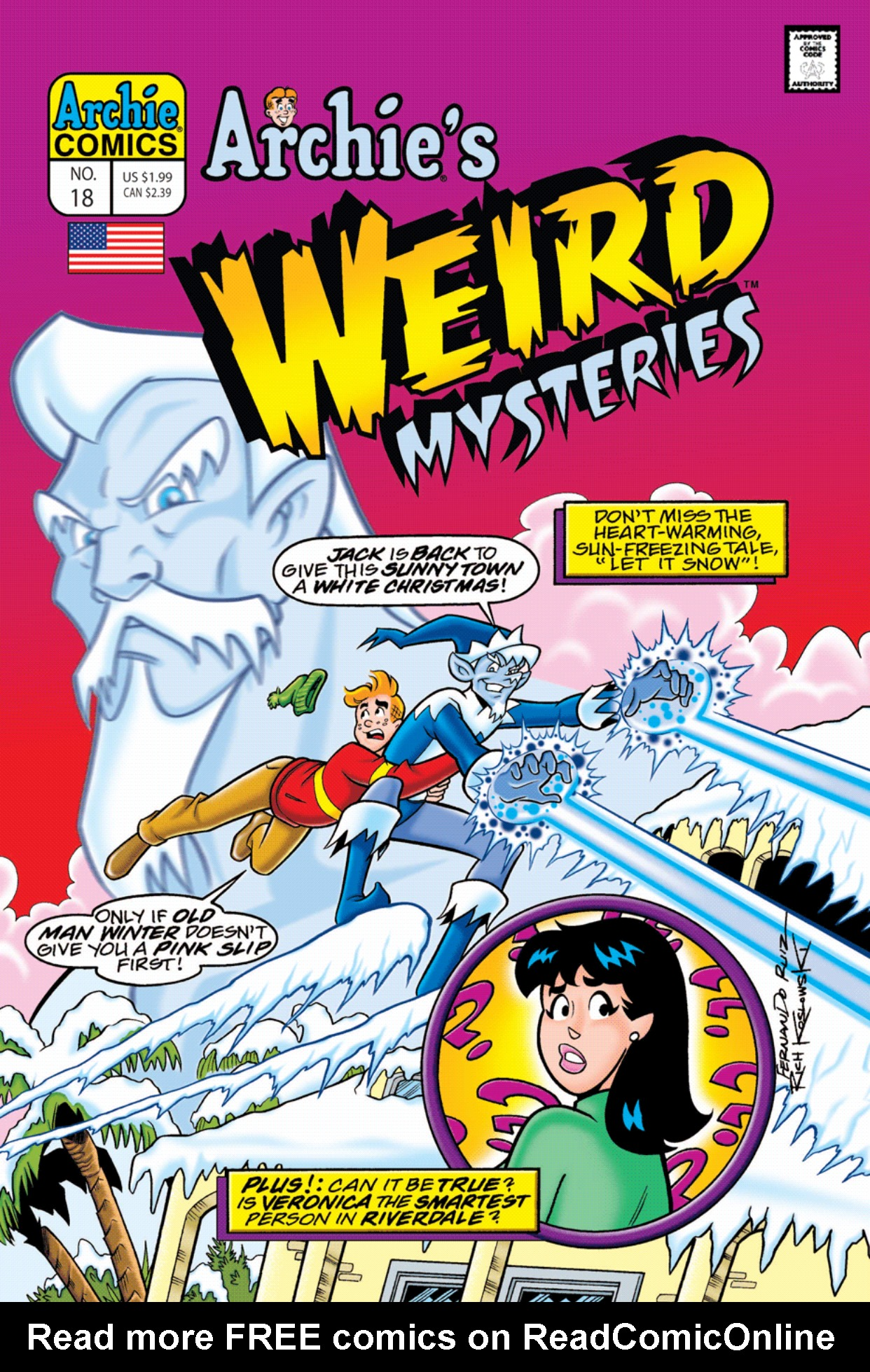 Read online Archie's Weird Mysteries comic -  Issue #18 - 1