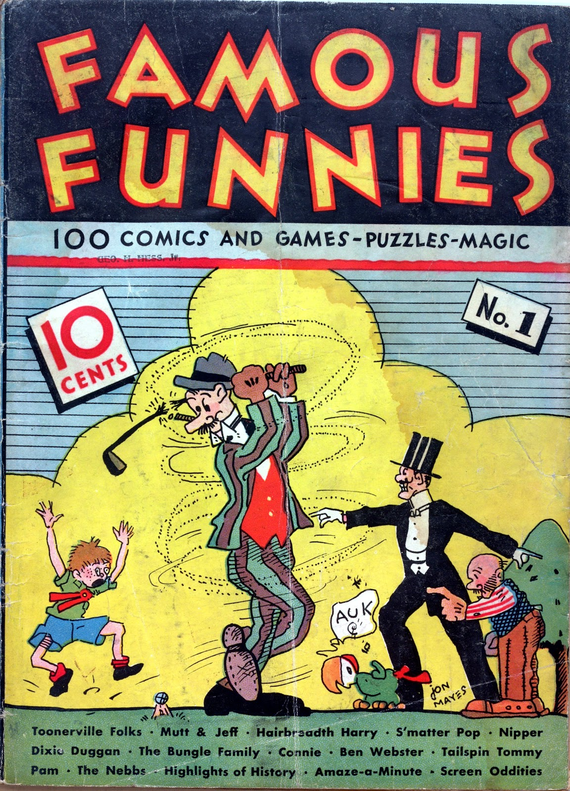 Read online Famous Funnies comic -  Issue #1 - 1