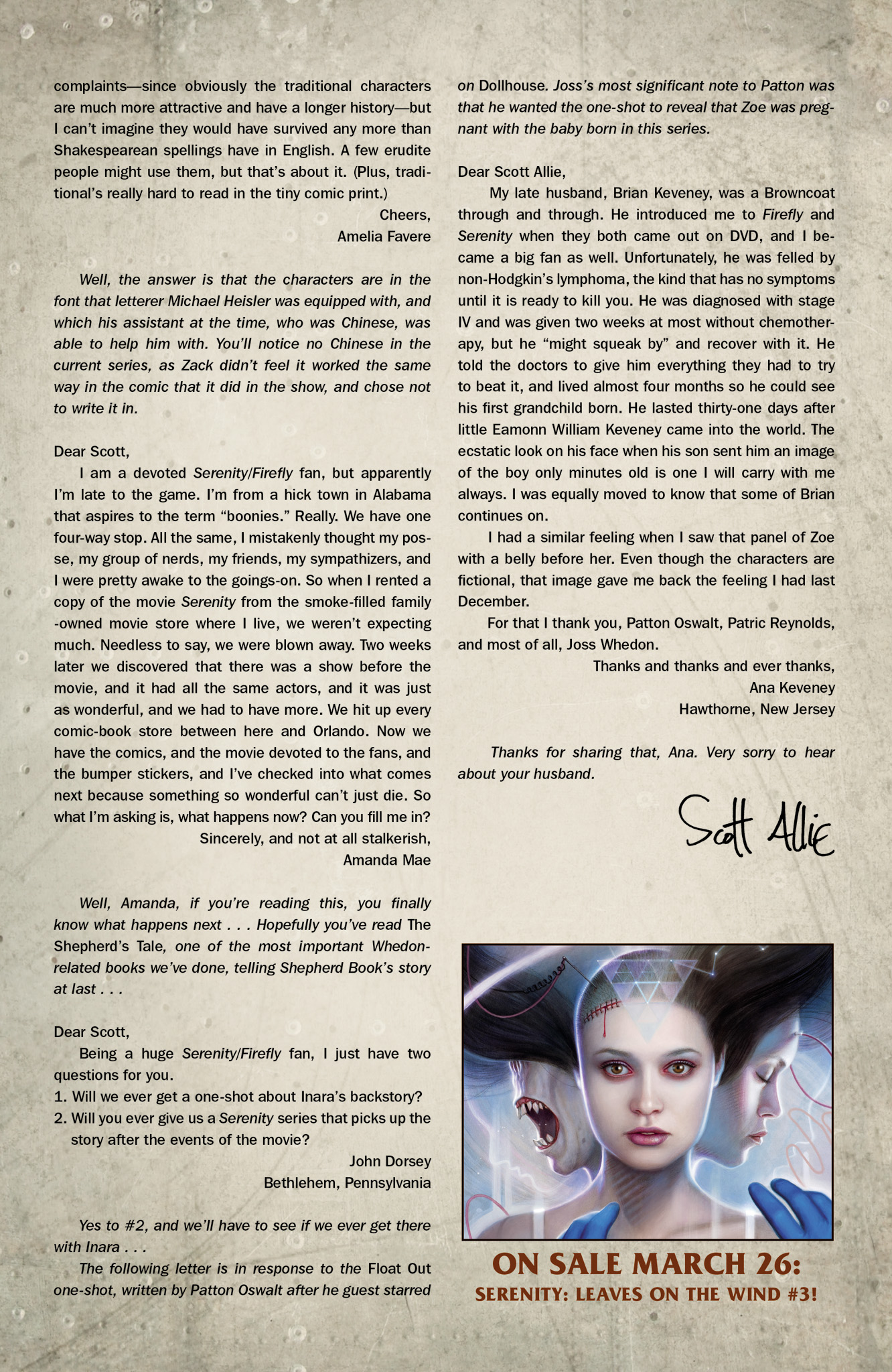 Read online Serenity: Firefly Class 03-K64  Leaves on the Wind comic -  Issue #2 - 25