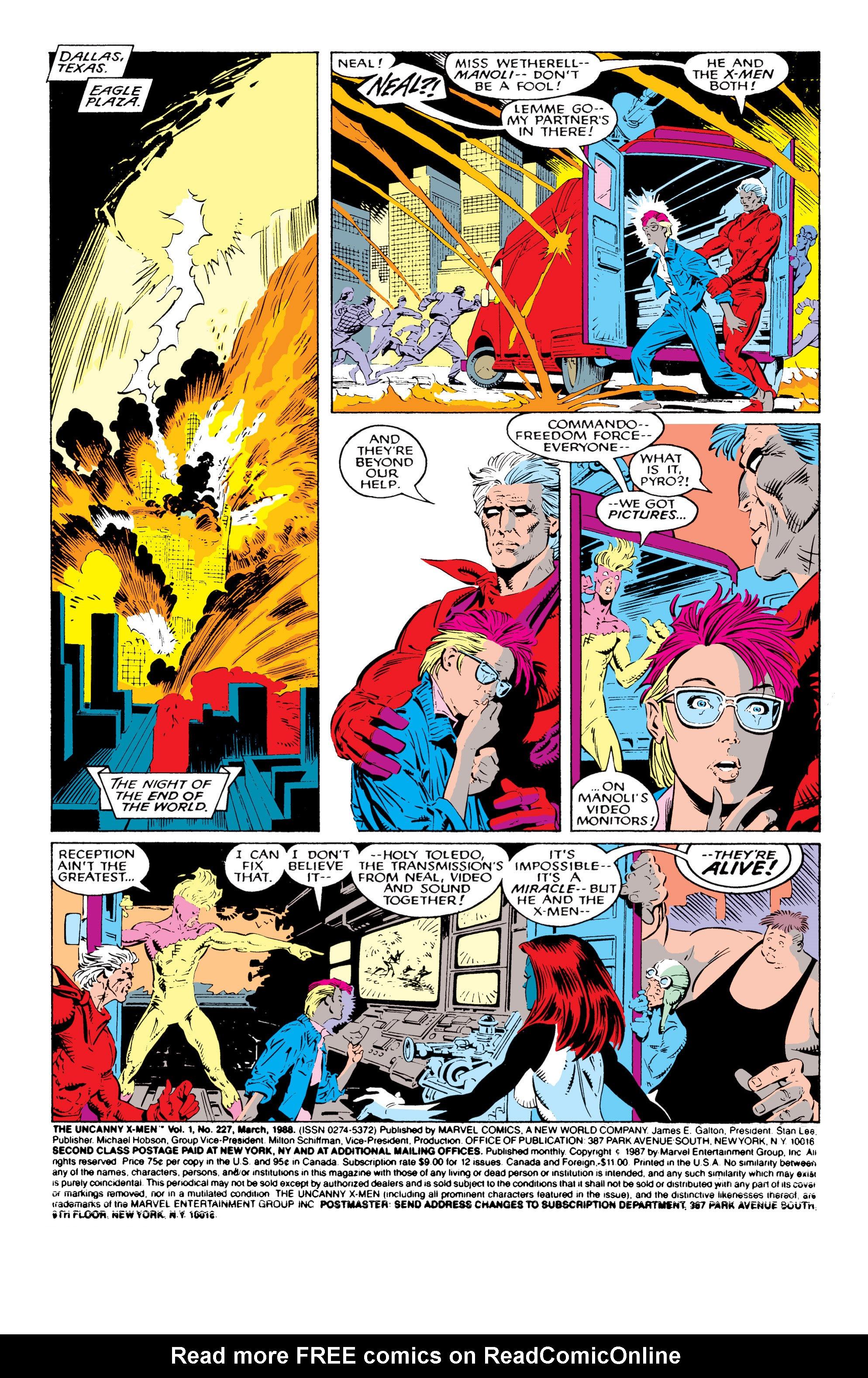 Read online Uncanny X-Men (1963) comic -  Issue #227 - 2