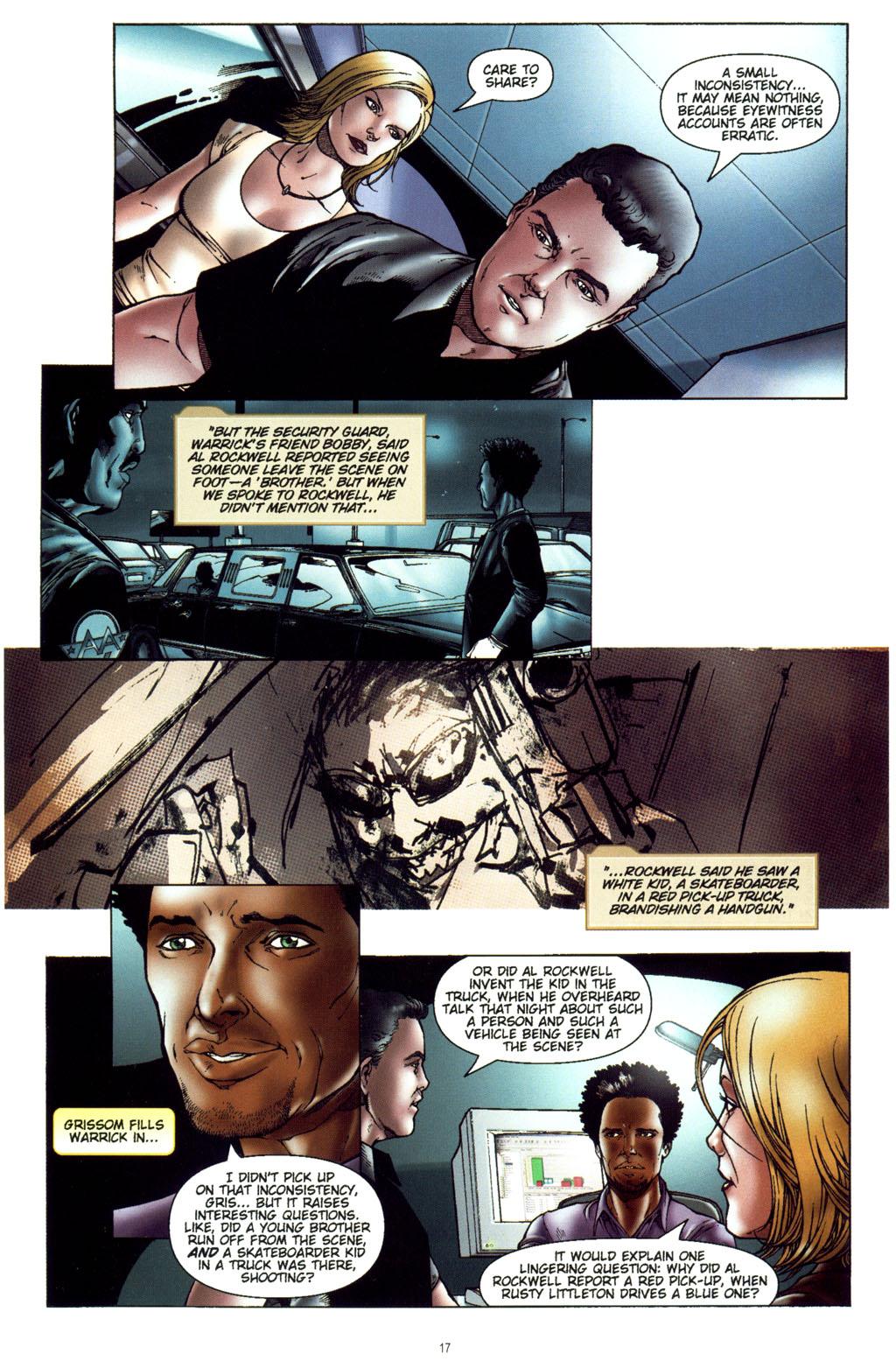 Read online CSI: Crime Scene Investigation: Bad Rap comic -  Issue #5 - 20