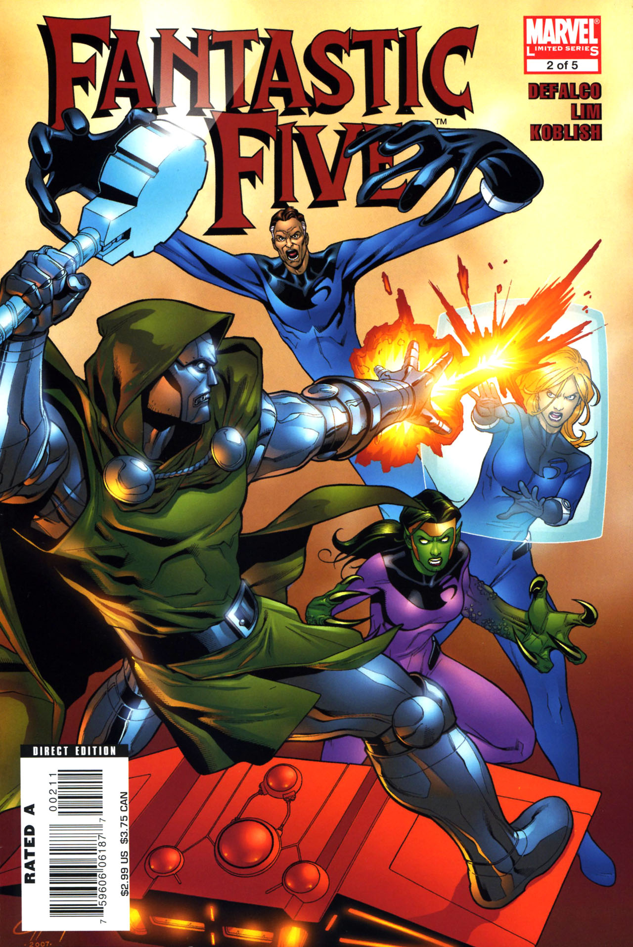 Read online Fantastic Five (2007) comic -  Issue #2 - 1