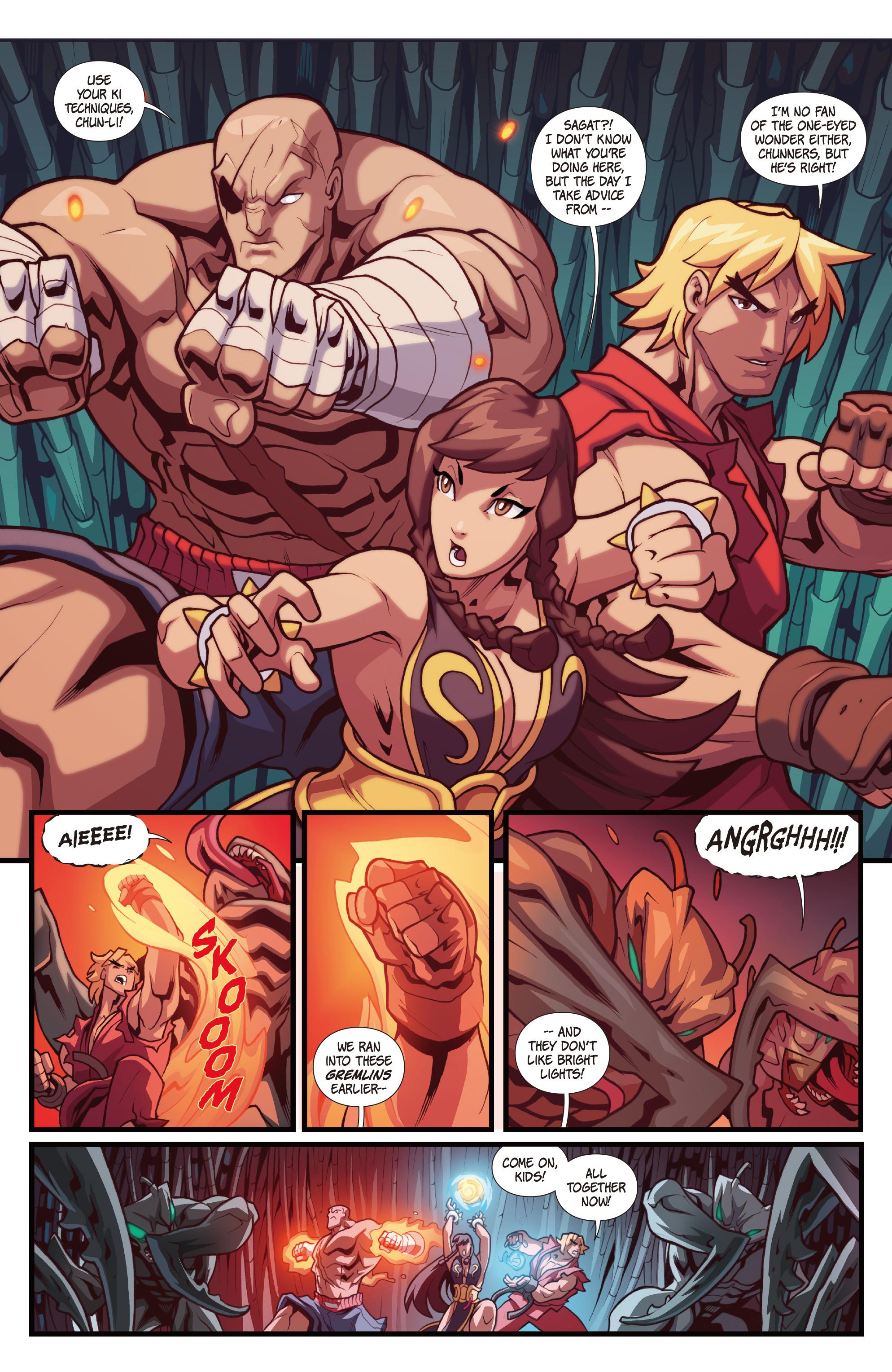 Read online Street Fighter VS Darkstalkers comic -  Issue #1 - 8
