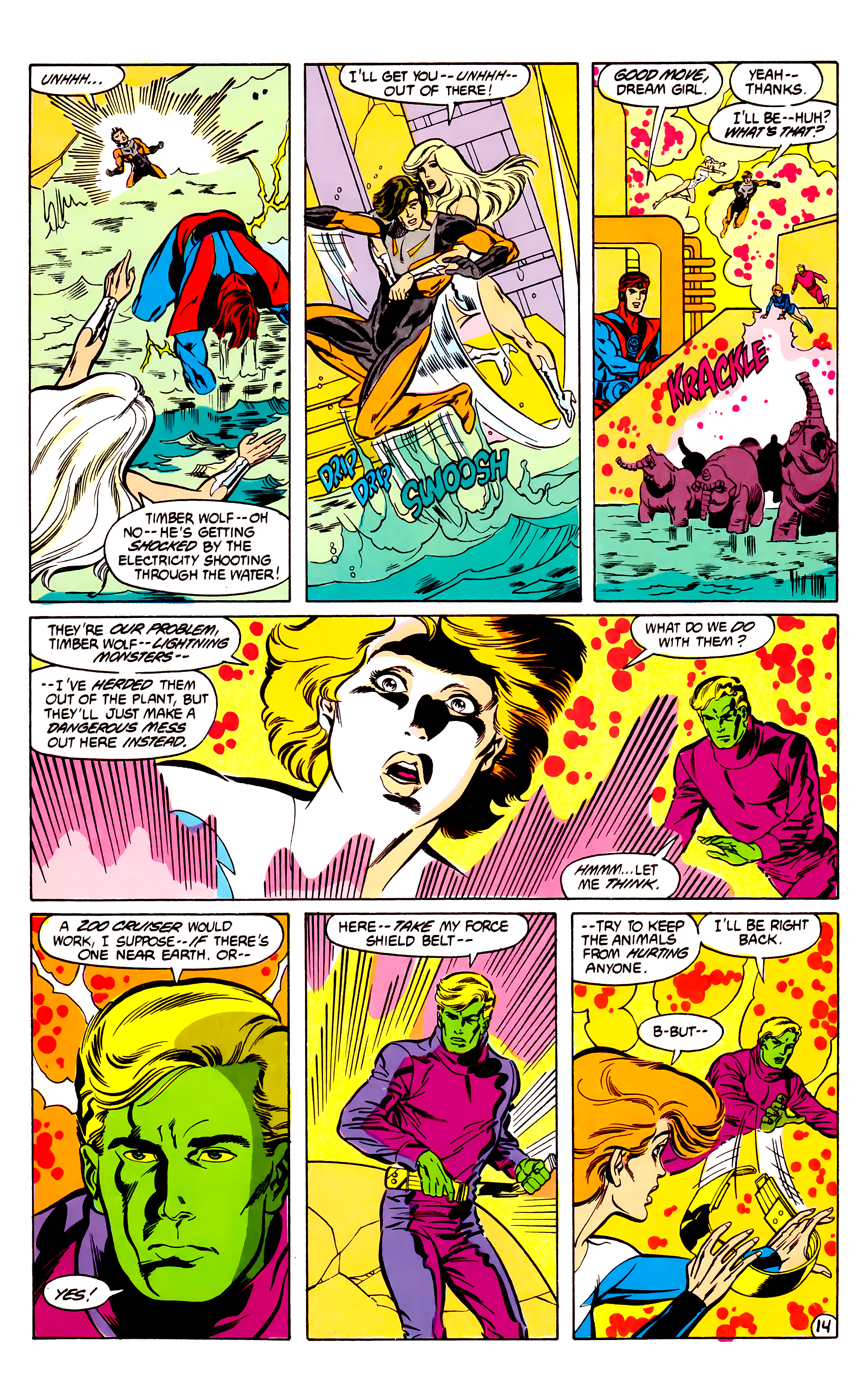 Legion of Super-Heroes (1984) 30 Page 14