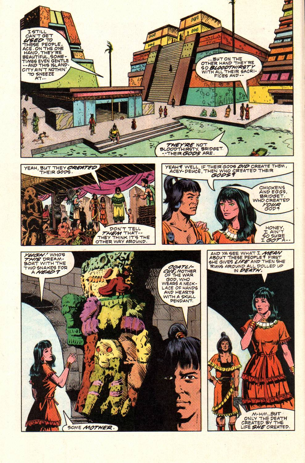Read online Aztec Ace comic -  Issue #9 - 10