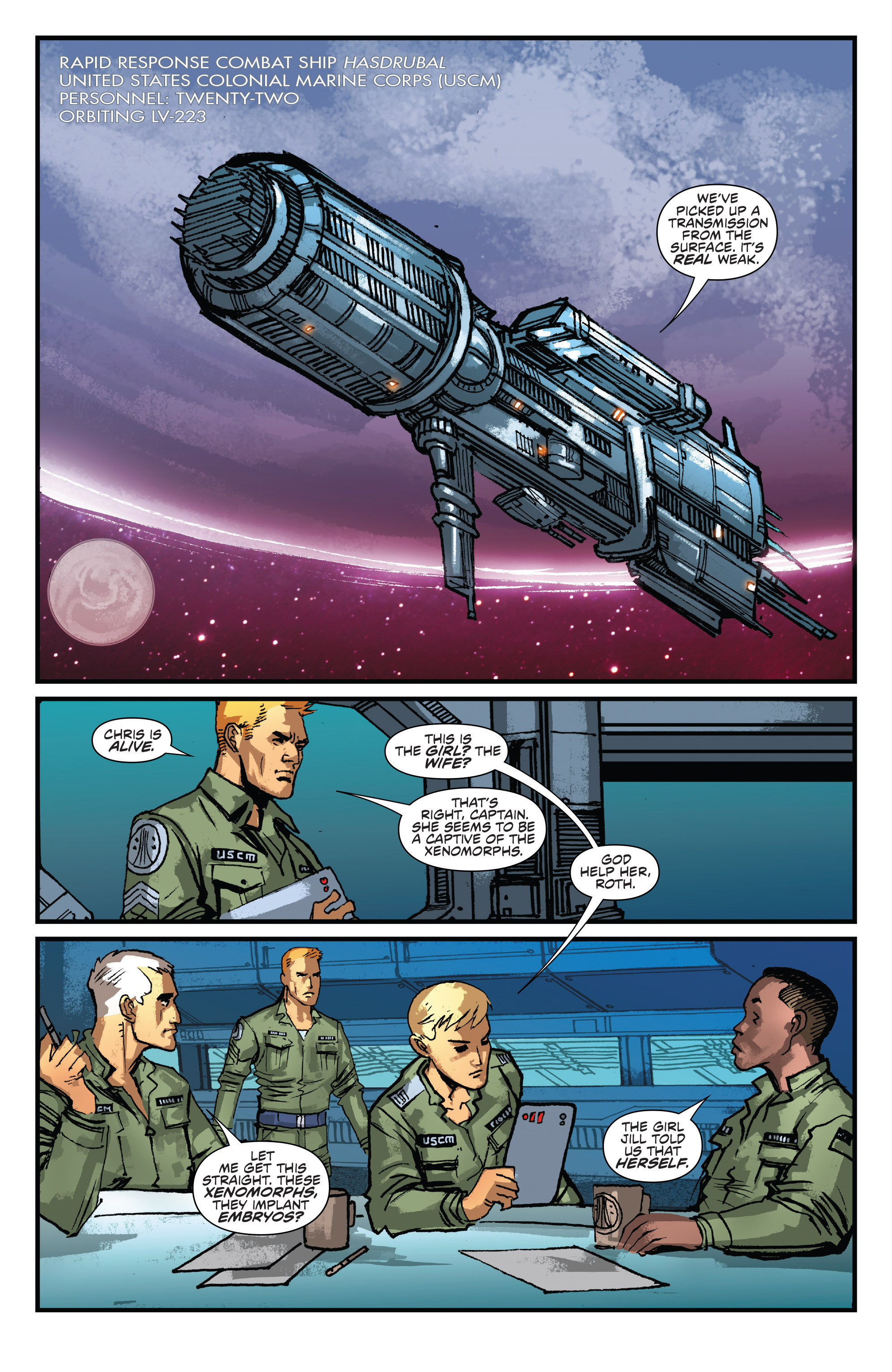Read online Aliens: Life And Death comic -  Issue #2 - 3