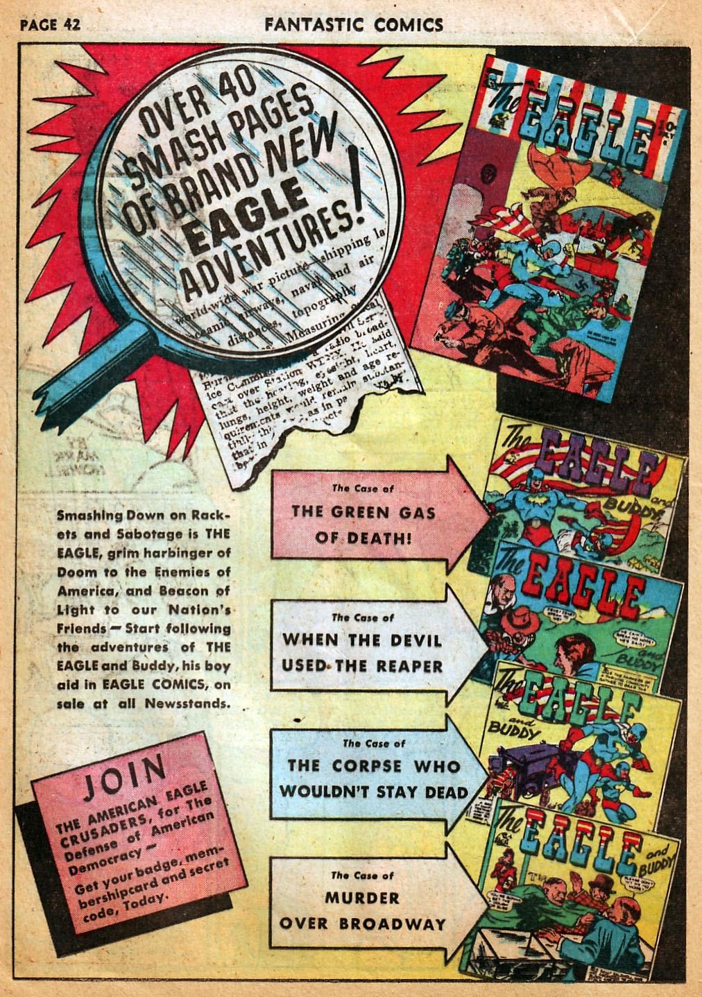 Read online Fantastic Comics comic -  Issue #22 - 43