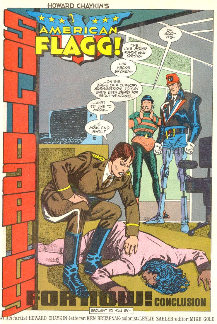 Read online American Flagg! comic -  Issue #12 - 5
