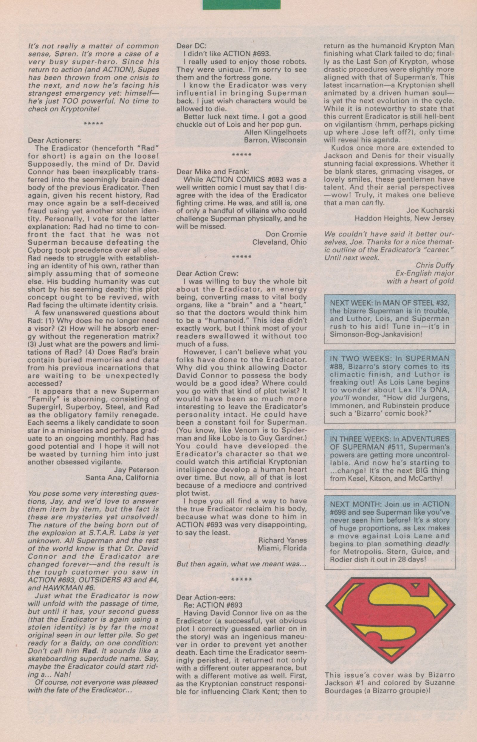 Read online Action Comics (1938) comic -  Issue #697 - 33