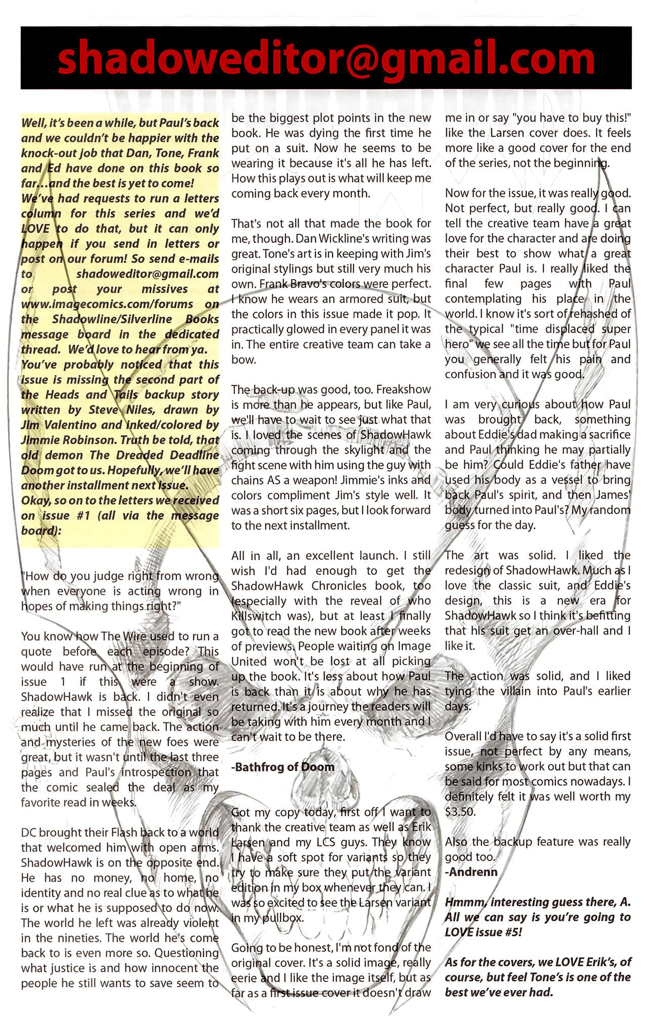 Read online ShadowHawk (2010) comic -  Issue #2 - 26