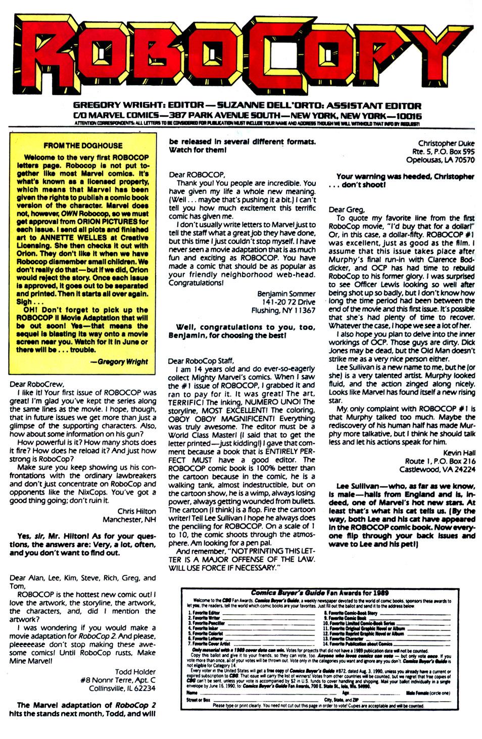 Read online Robocop (1990) comic -  Issue #5 - 24