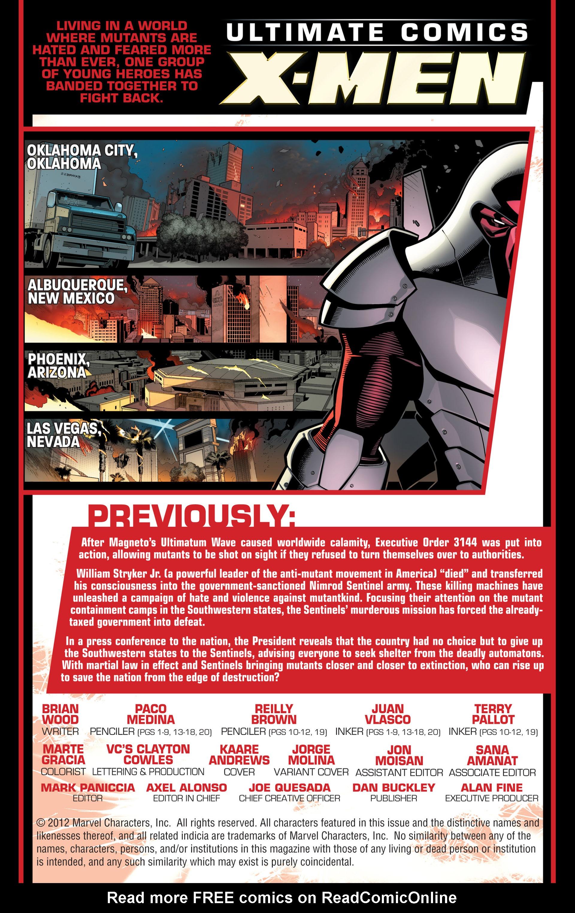 Read online Ultimate Comics X-Men comic -  Issue #13 - 2