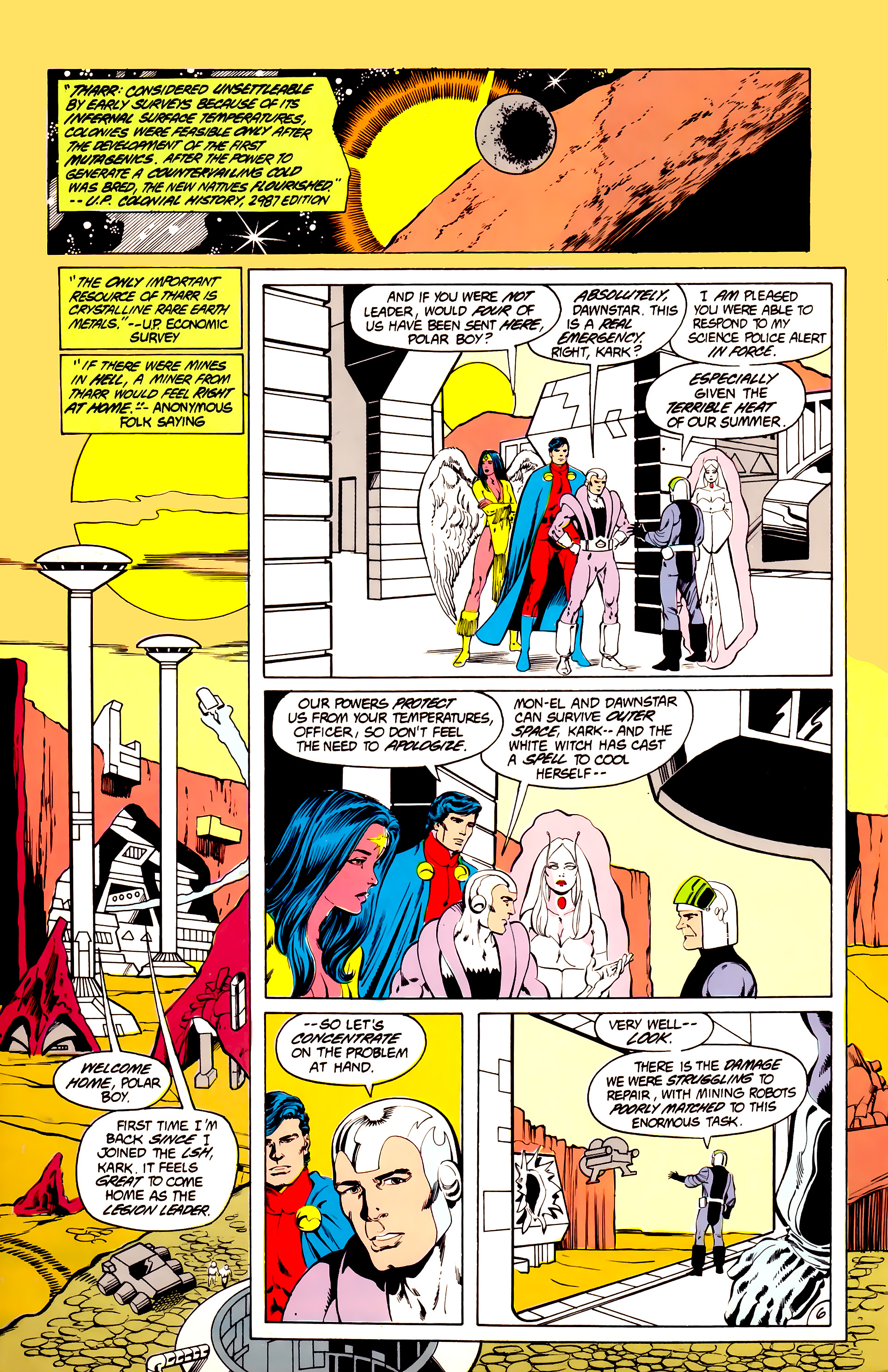 Legion of Super-Heroes (1984) 40 Page 6