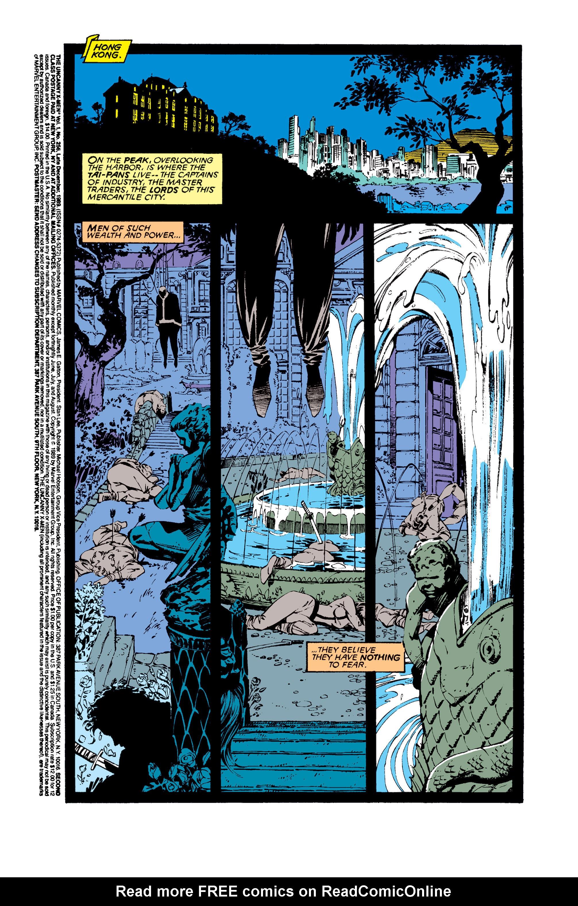 Read online Uncanny X-Men (1963) comic -  Issue #256 - 2