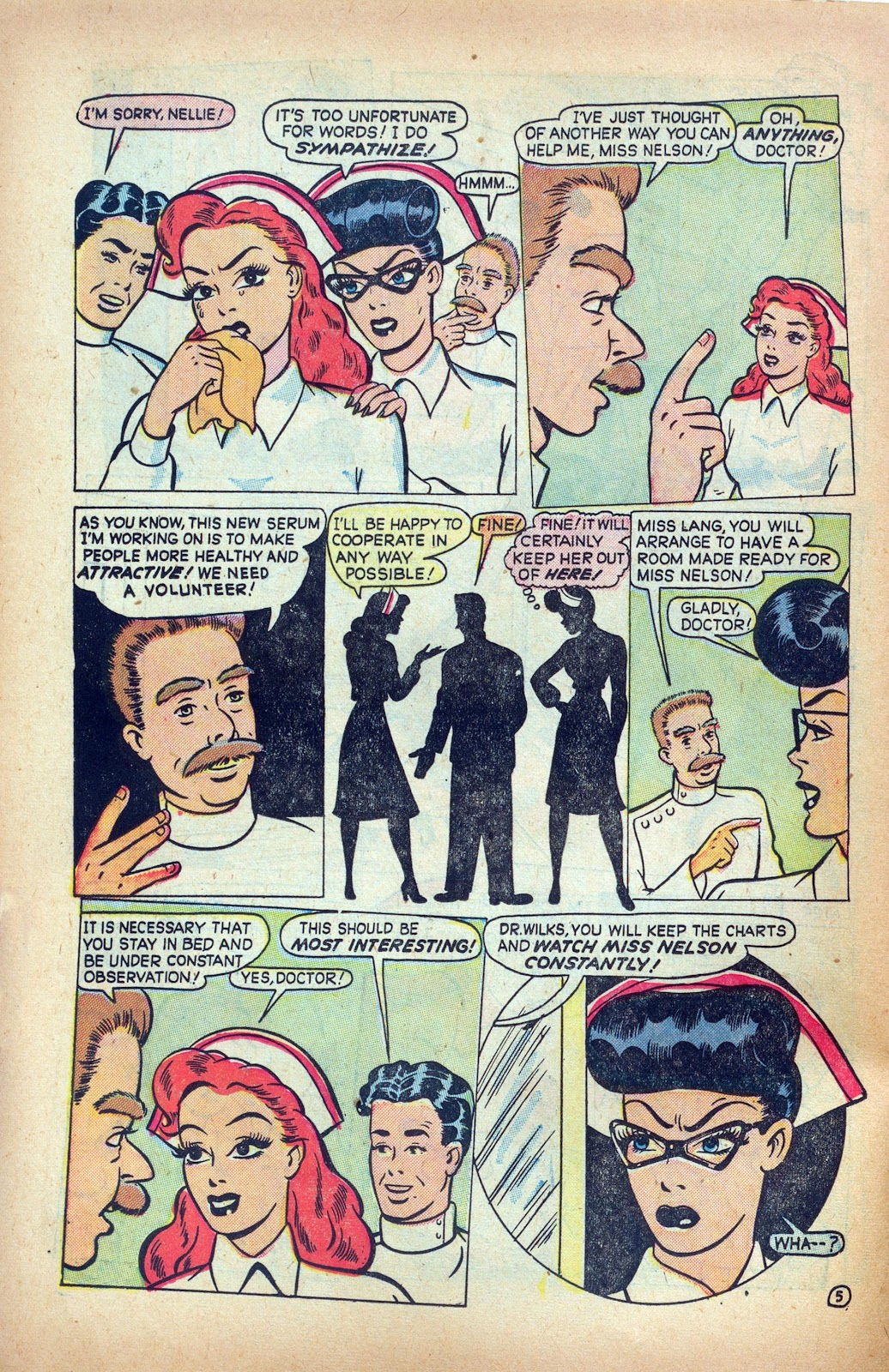 Read online Nellie The Nurse (1945) comic -  Issue #24 - 26