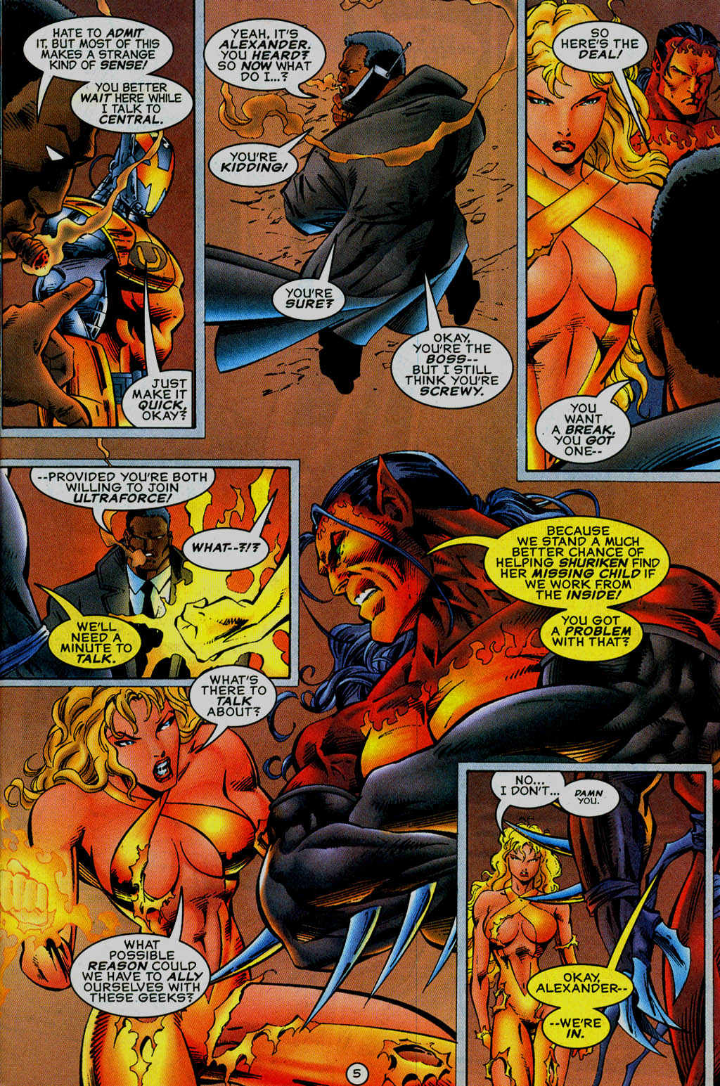 Read online UltraForce (1995) comic -  Issue #13 - 6