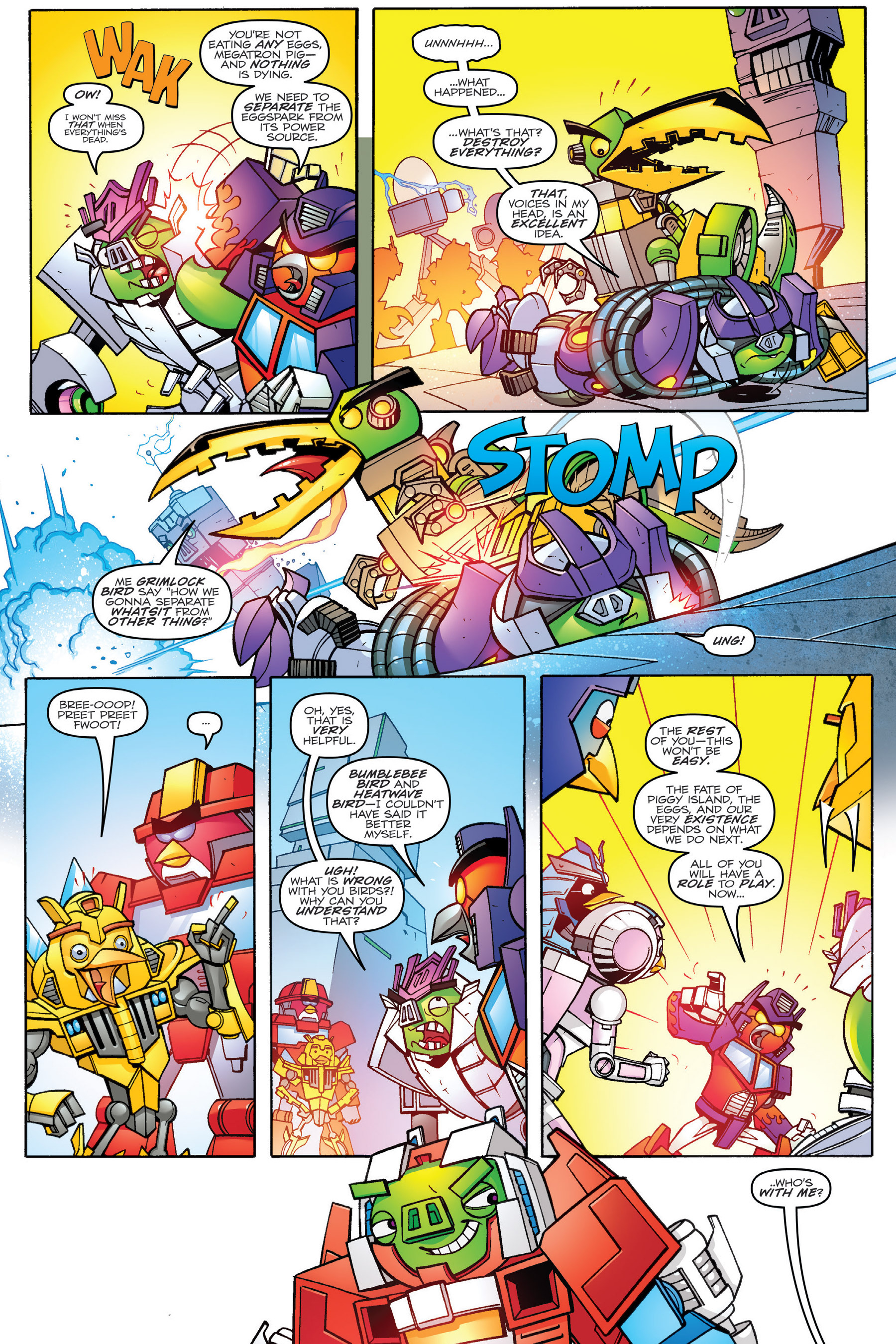 Read online Angry Birds Transformers: Age of Eggstinction comic -  Issue # Full - 73