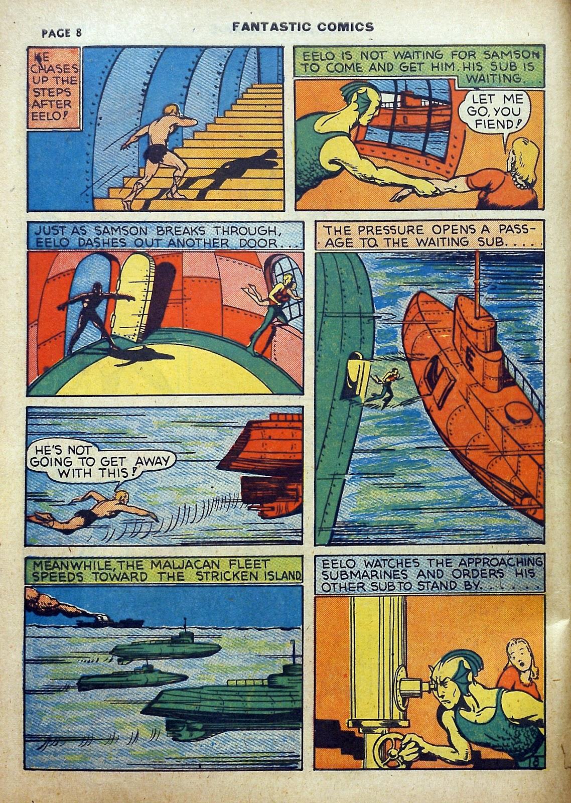 Read online Fantastic Comics comic -  Issue #5 - 9