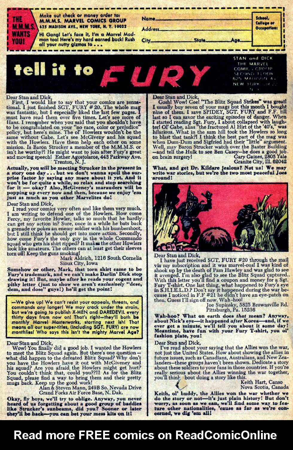 Read online Sgt. Fury comic -  Issue #24 - 32