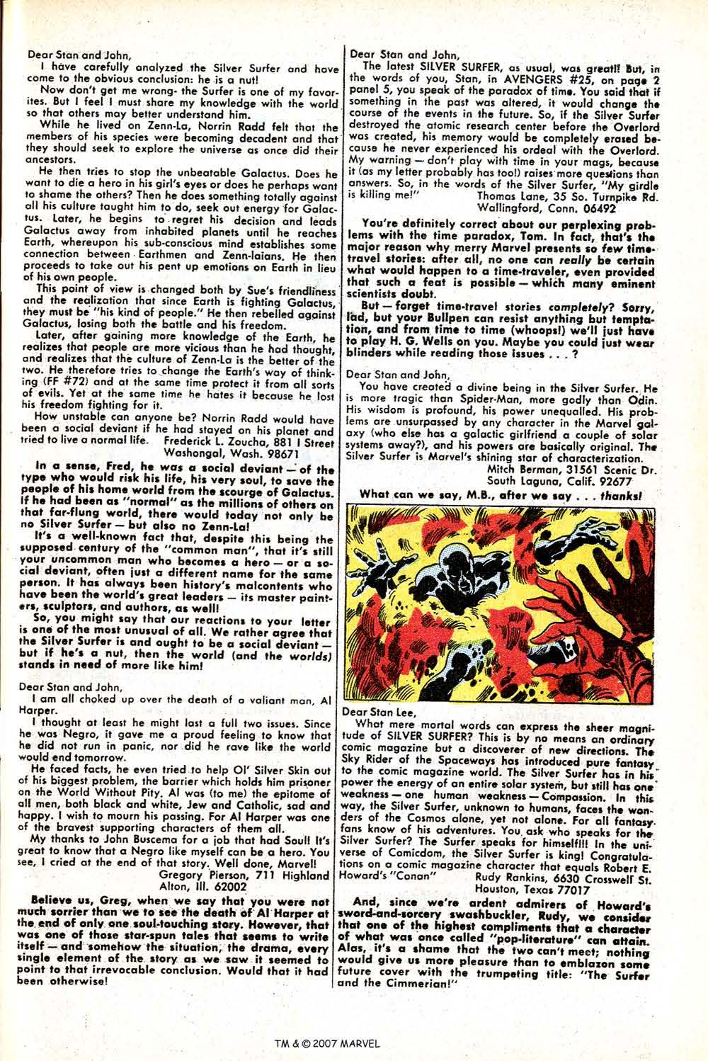 Read online Silver Surfer (1968) comic -  Issue #11 - 33