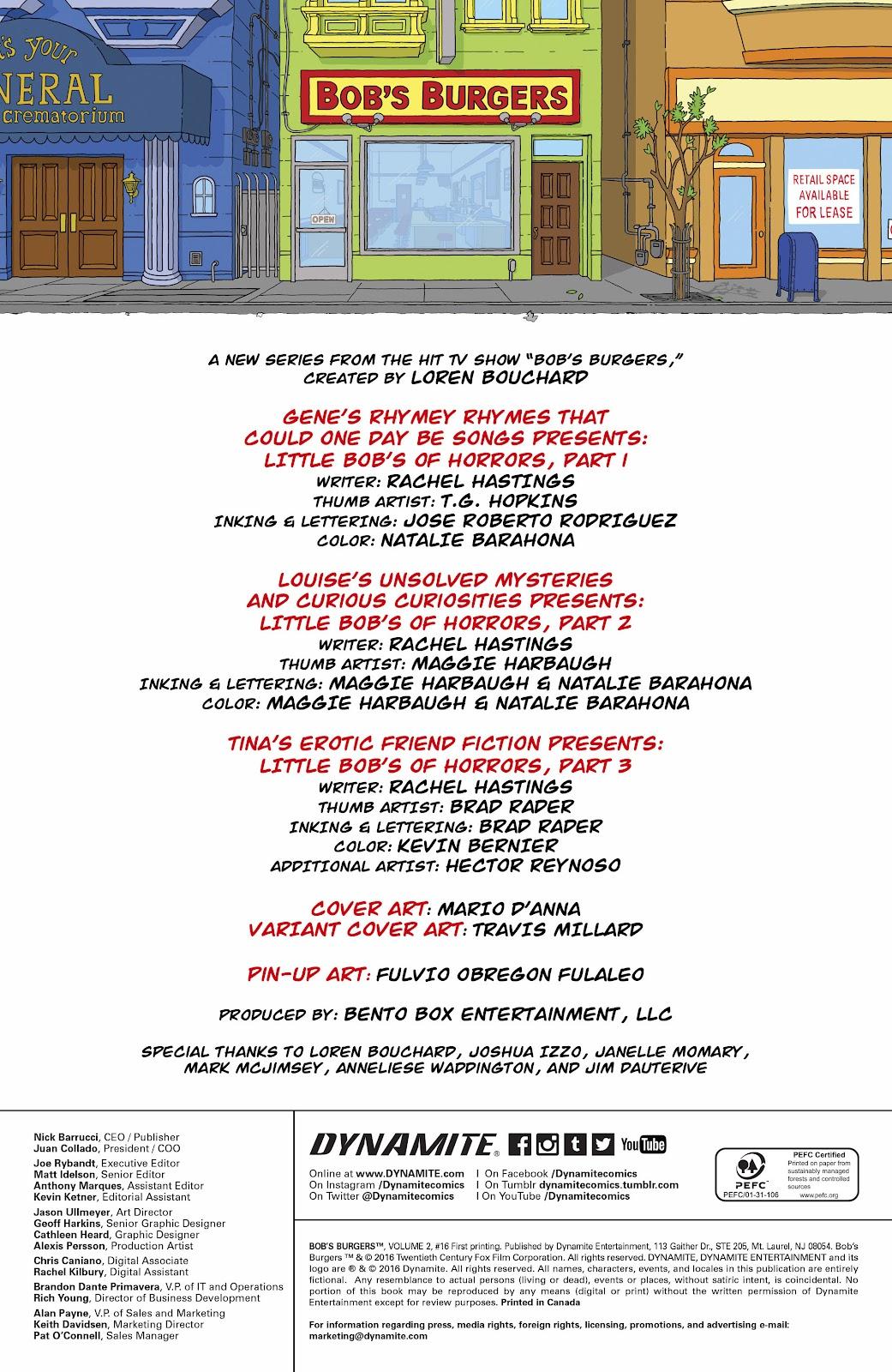 Bob's Burgers (2015) Issue #16 #16 - English 2