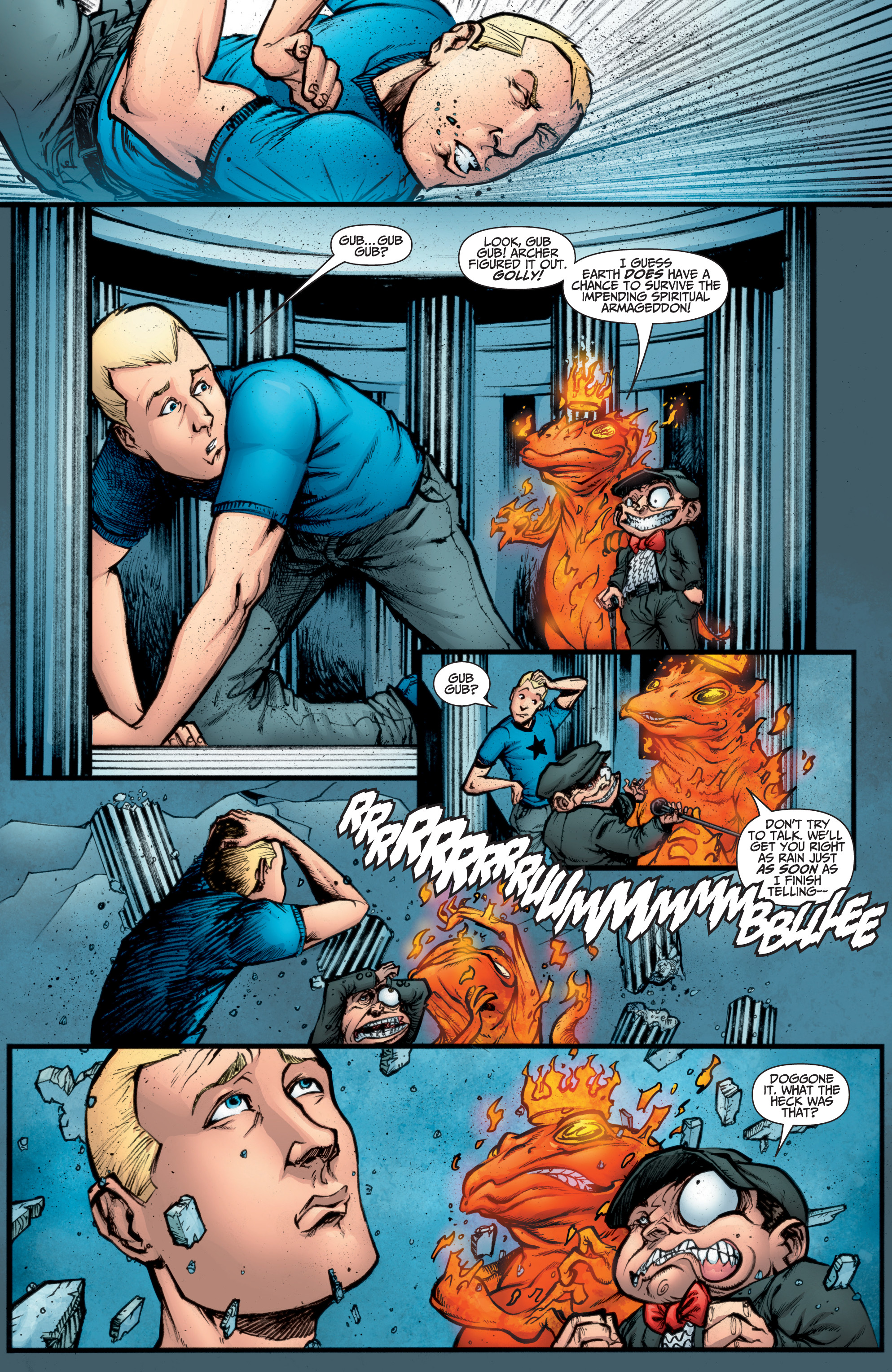 Read online A&A: The Adventures of Archer & Armstrong comic -  Issue #10 - 21