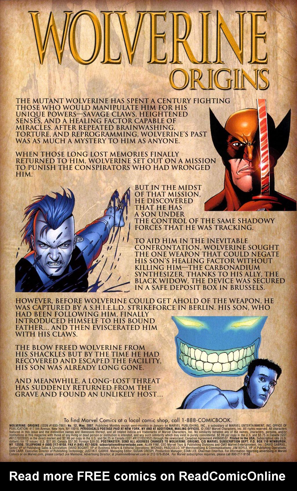 Read online Wolverine: Origins comic -  Issue #12 - 2