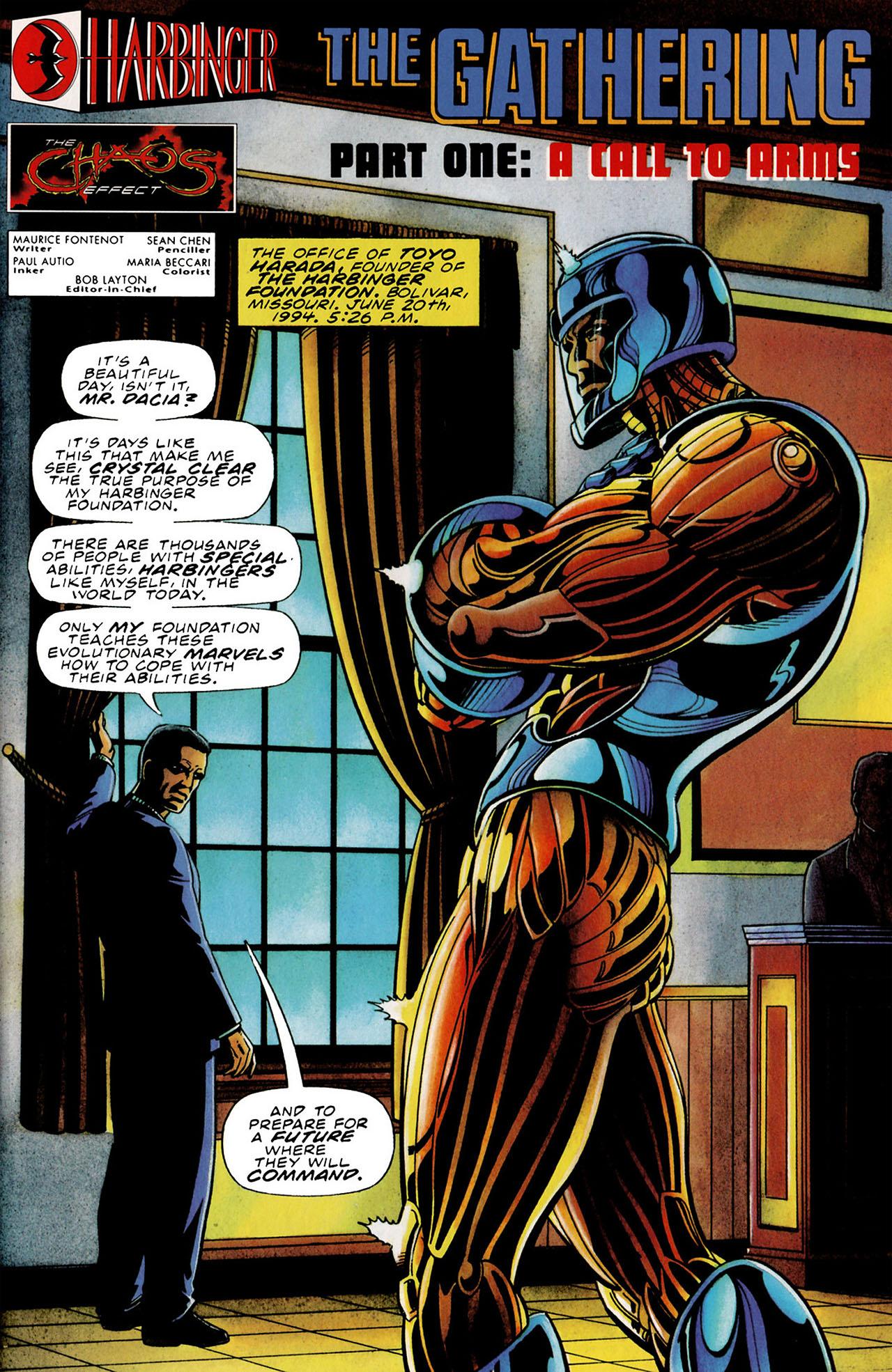 Read online Harbinger (1992) comic -  Issue #34 - 2