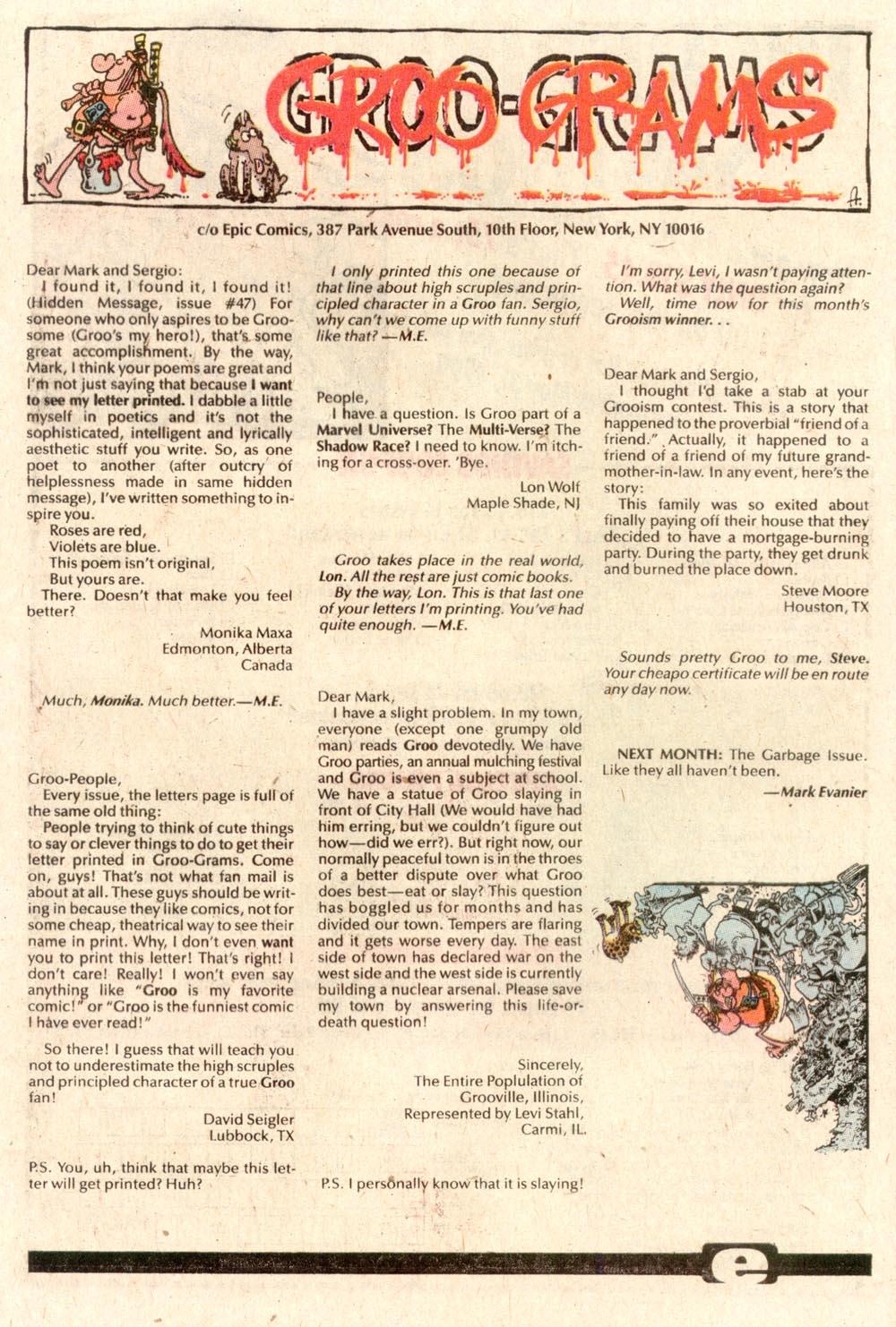 Read online Sergio Aragonés Groo the Wanderer comic -  Issue #64 - 24