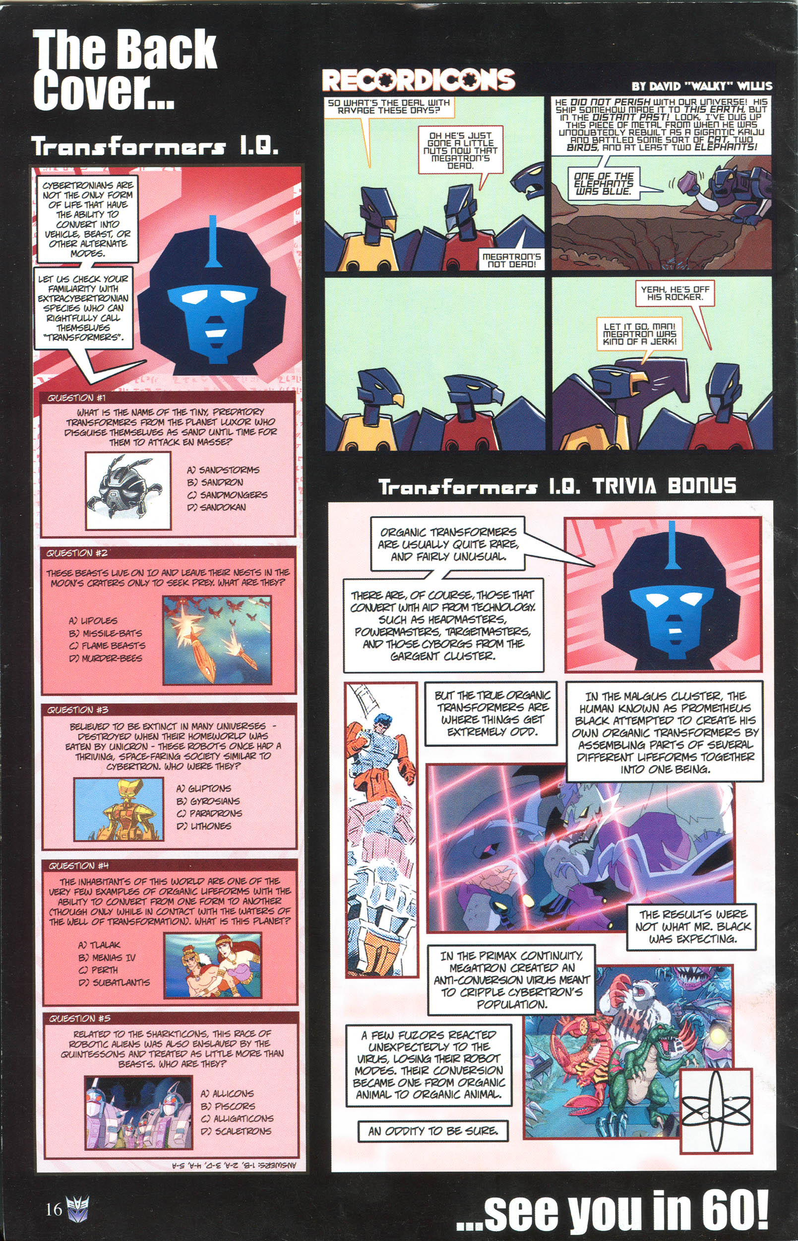 Read online Transformers: Collectors' Club comic -  Issue #57 - 16