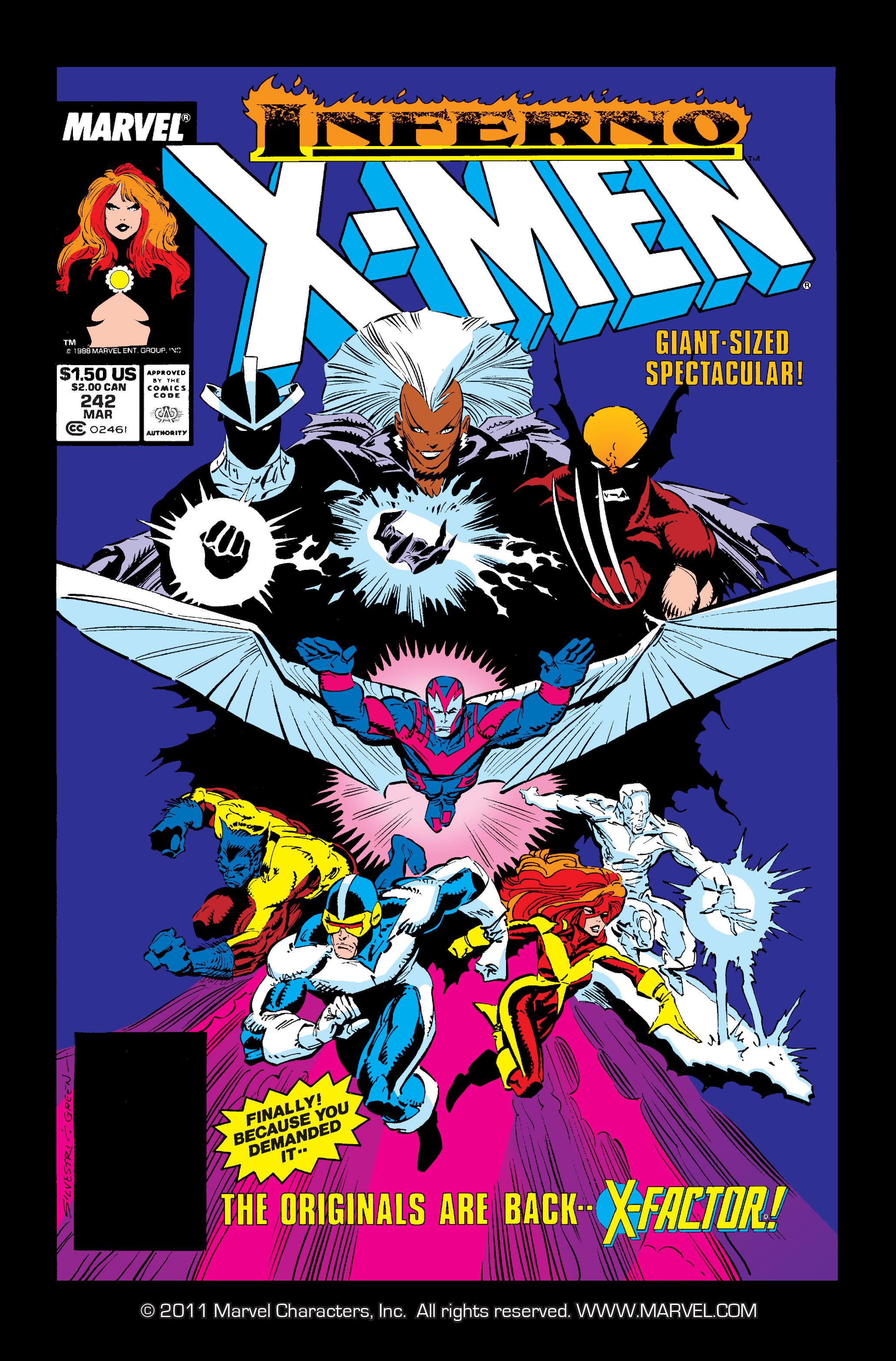 Read online Uncanny X-Men (1963) comic -  Issue #242 - 1