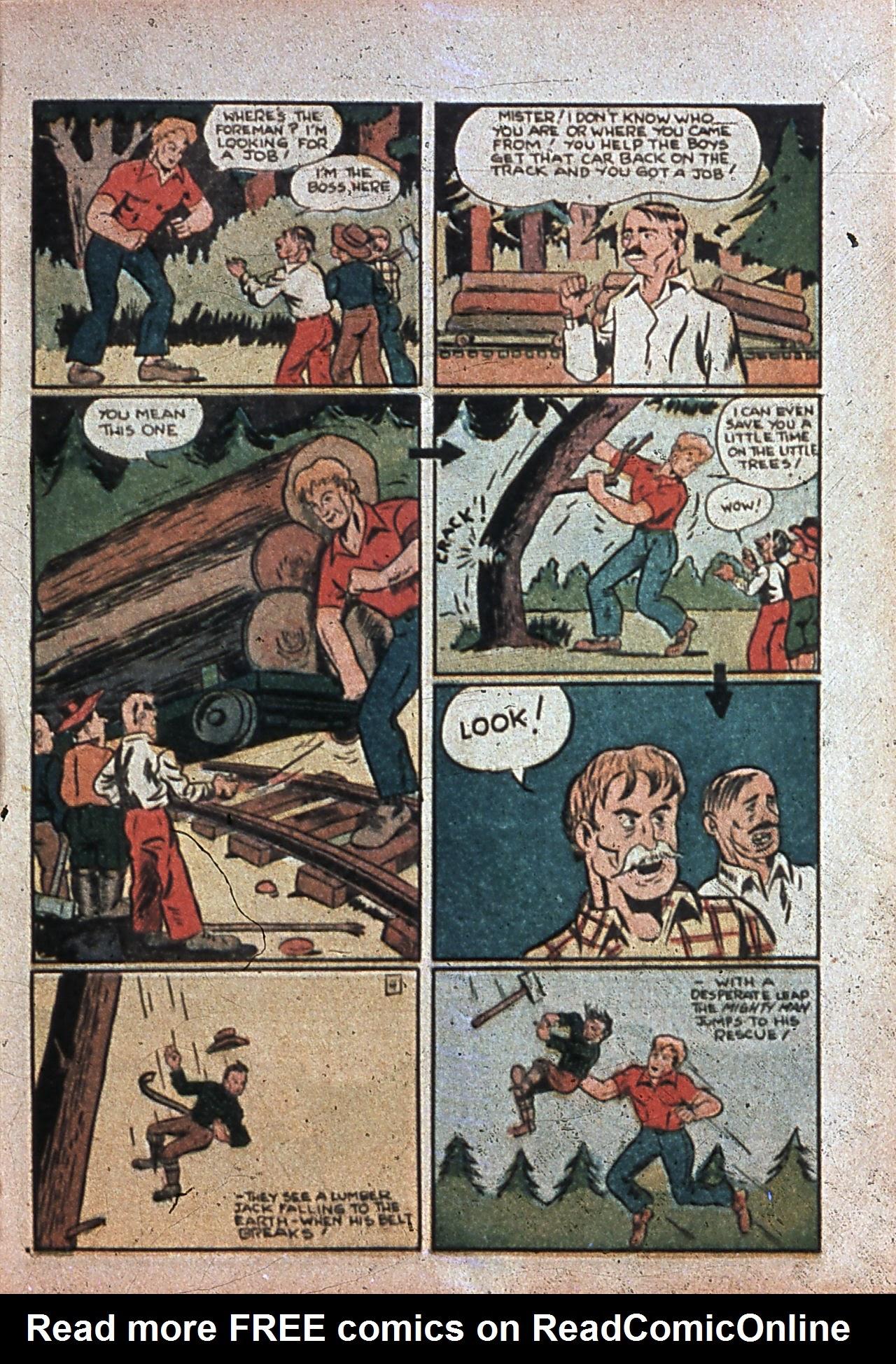 Read online Amazing Man Comics comic -  Issue #7 - 56