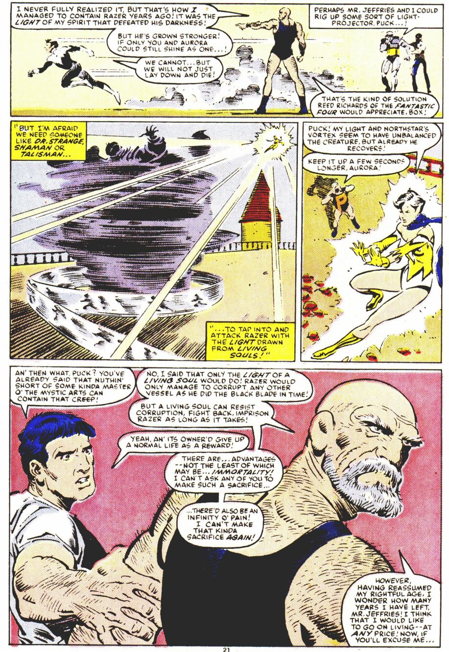 Read online Alpha Flight (1983) comic -  Issue #32 - 22