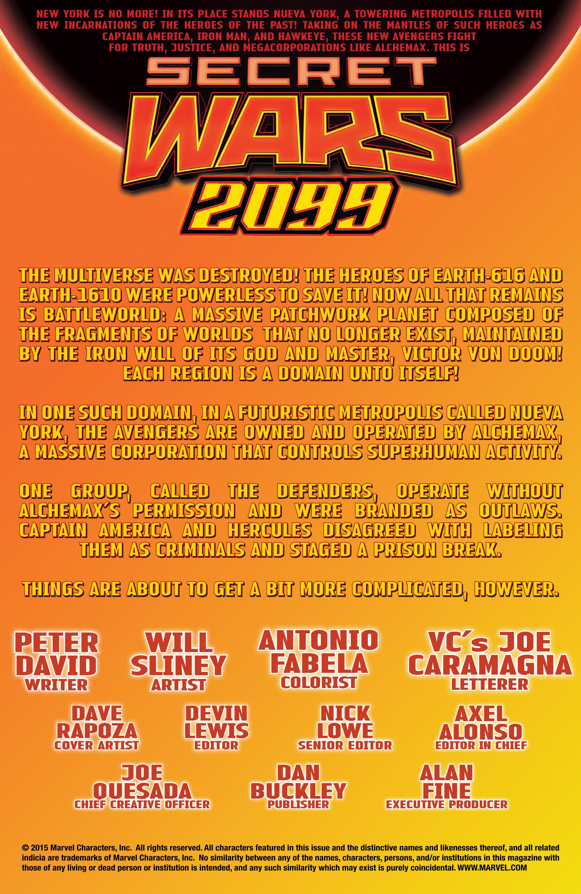 Read online Secret Wars 2099 comic -  Issue #5 - 2