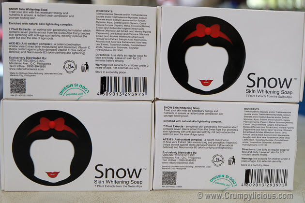 snow skin whitening soap