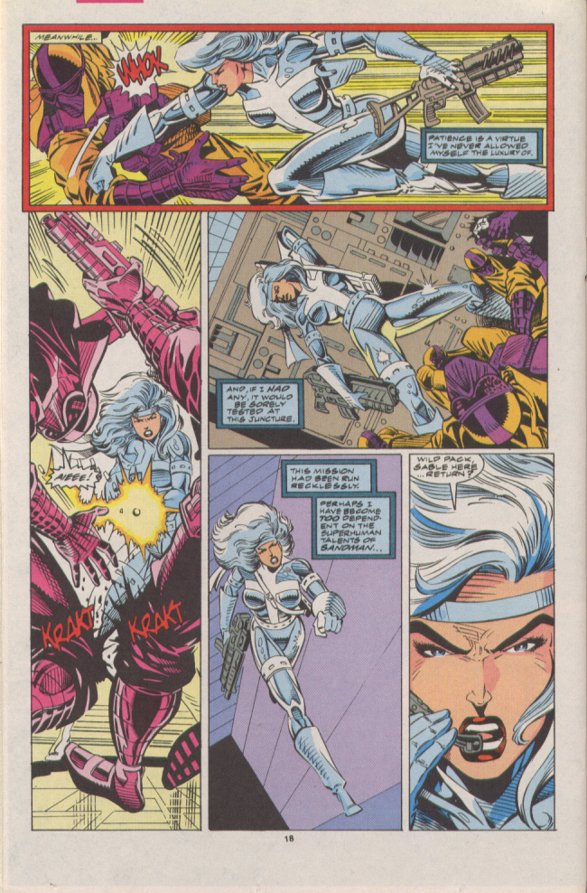 Read online Silver Sable and the Wild Pack comic -  Issue #7 - 13