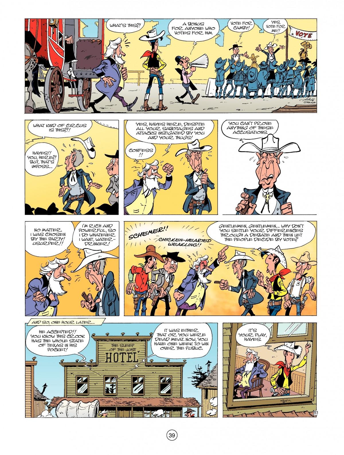 Read online A Lucky Luke Adventure comic -  Issue #39 - 39