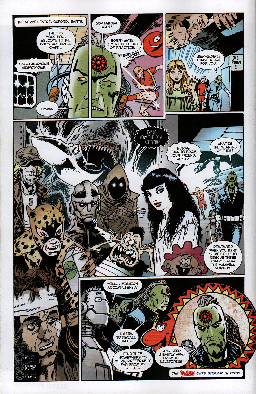 Read online Free Comic Book Day 2017 comic -  Issue # 2000 AD prog - 30