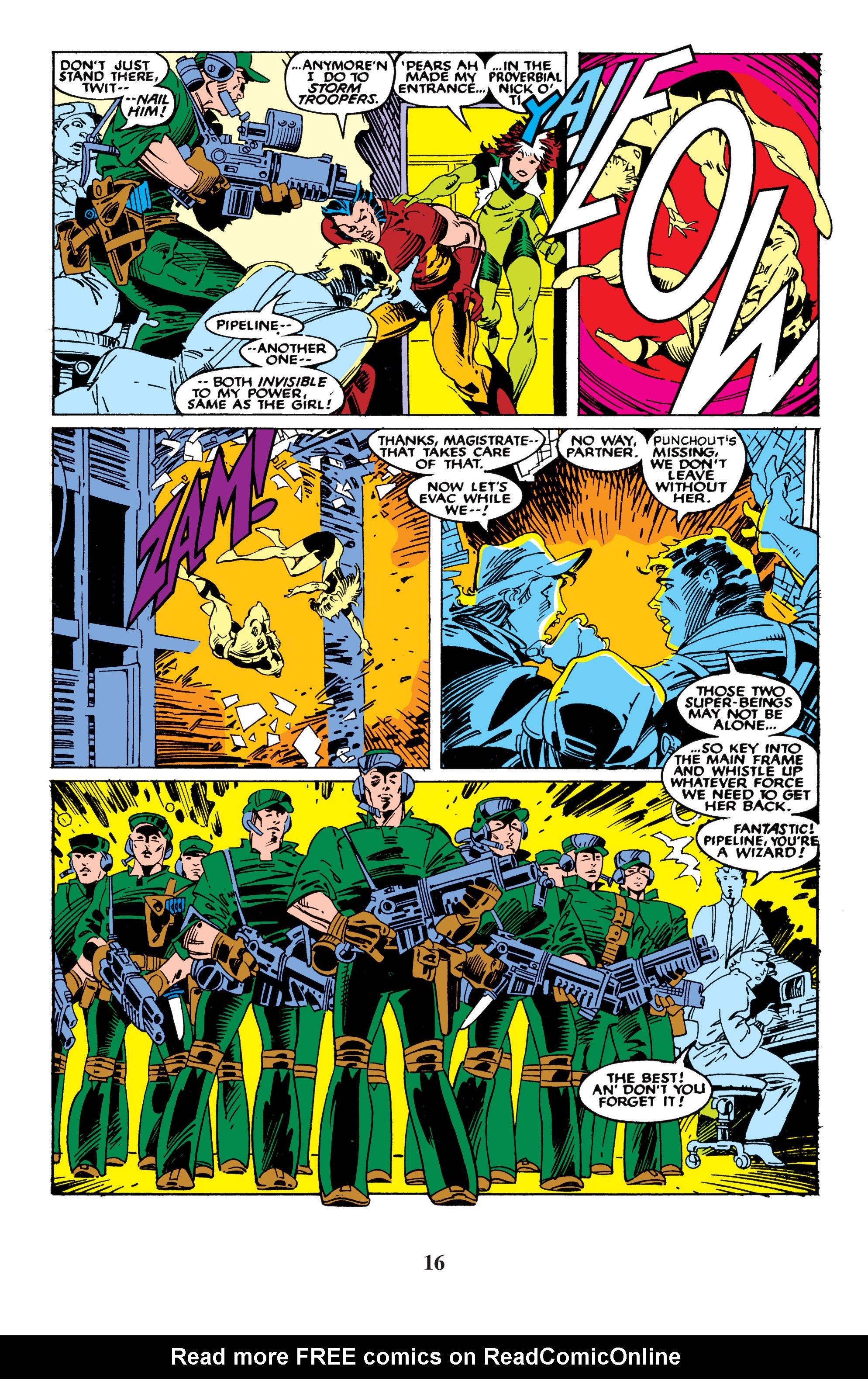 Read online Uncanny X-Men (1963) comic -  Issue #235 - 16