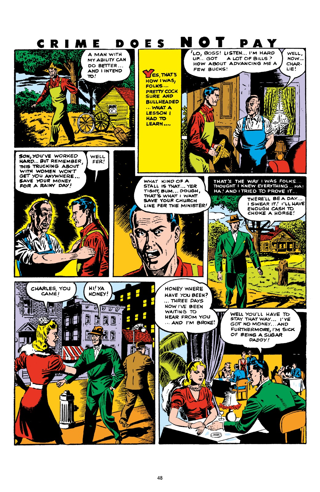 Read online Crime Does Not Pay Archives comic -  Issue # TPB 5 (Part 1) - 48