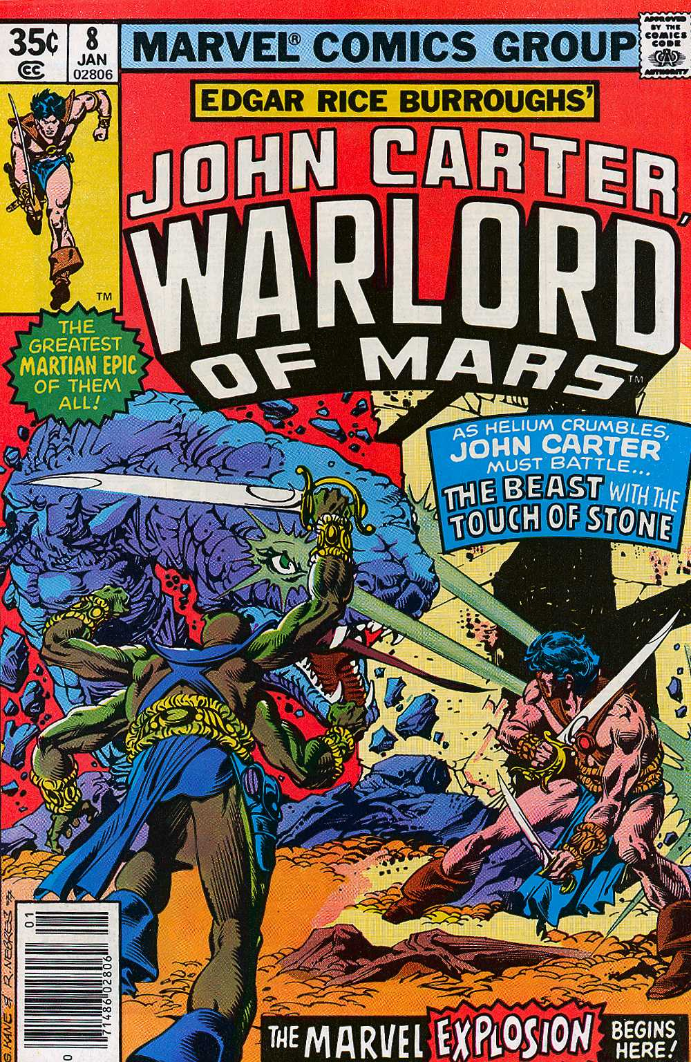 John Carter Warlord of Mars issue 8 - Page 1