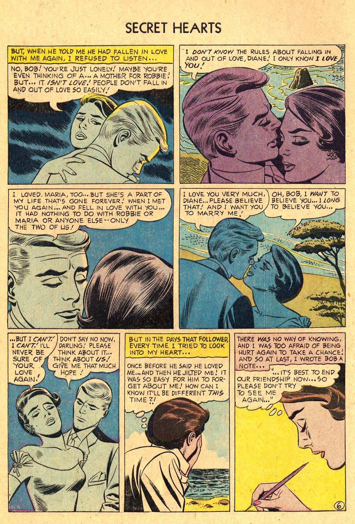 Read online Secret Hearts comic -  Issue #36 - 8