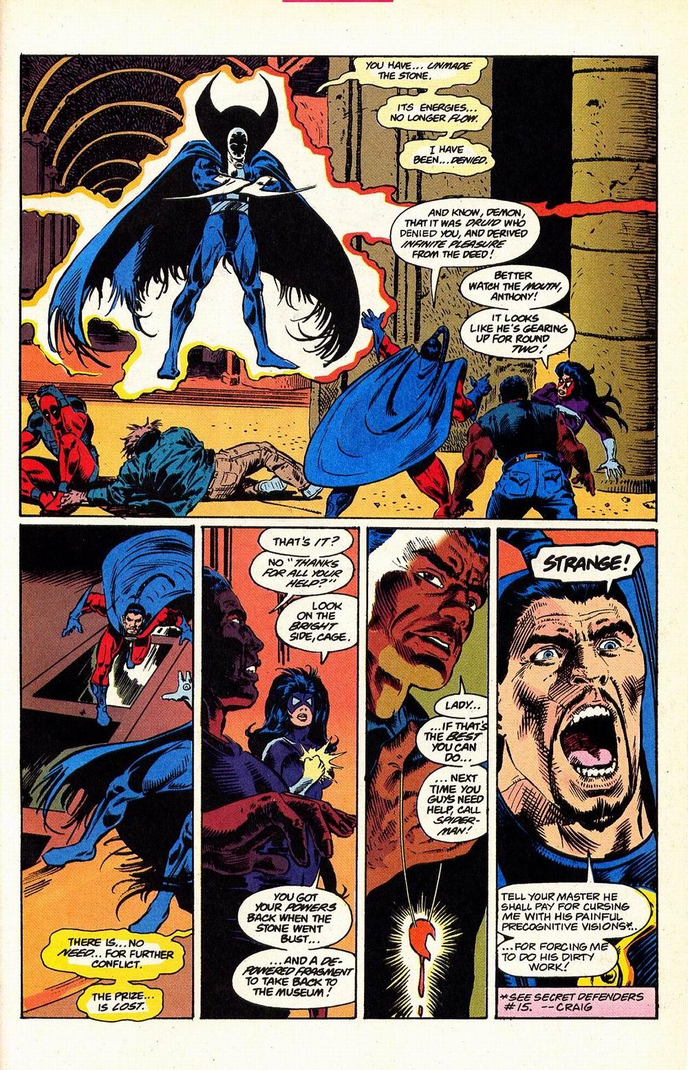 Read online Secret Defenders comic -  Issue #17 - 21