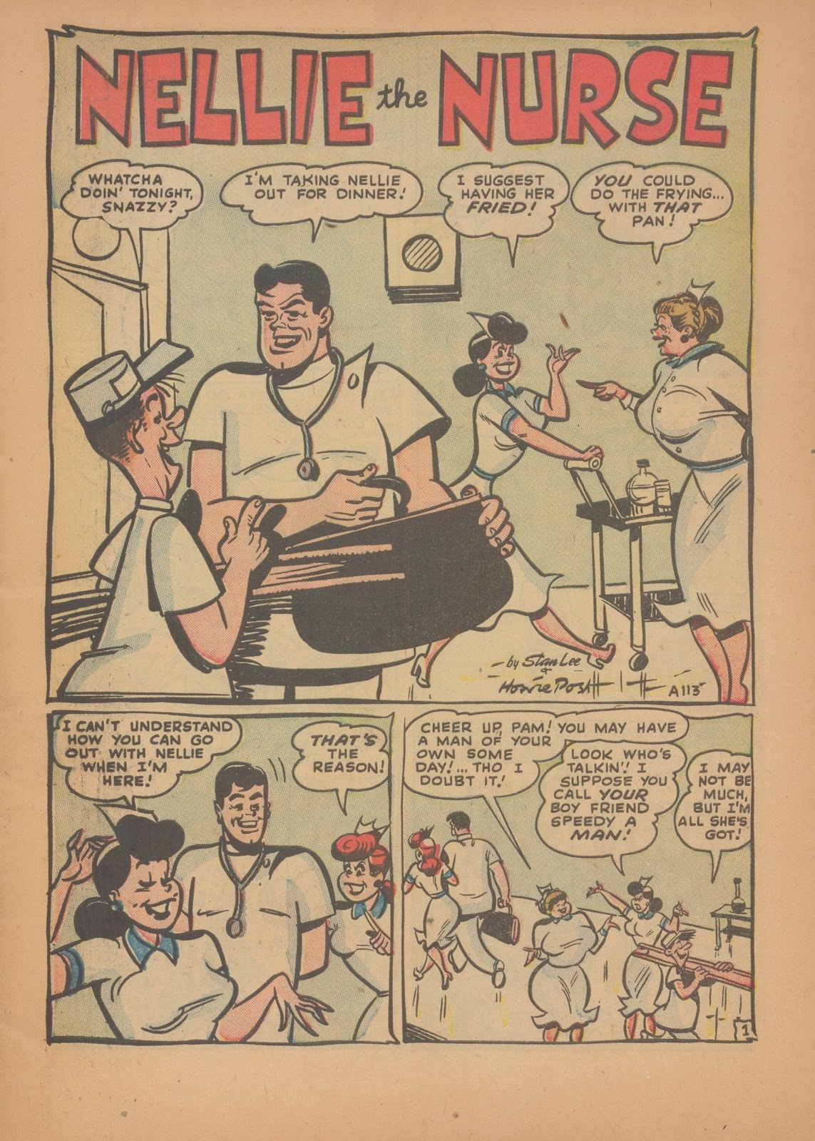 Read online Nellie The Nurse (1945) comic -  Issue #35 - 3