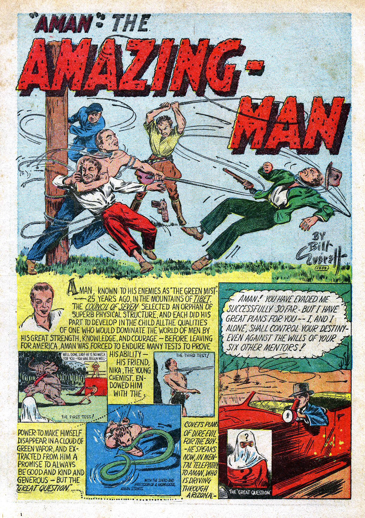 Read online Amazing Man Comics comic -  Issue #6 - 3