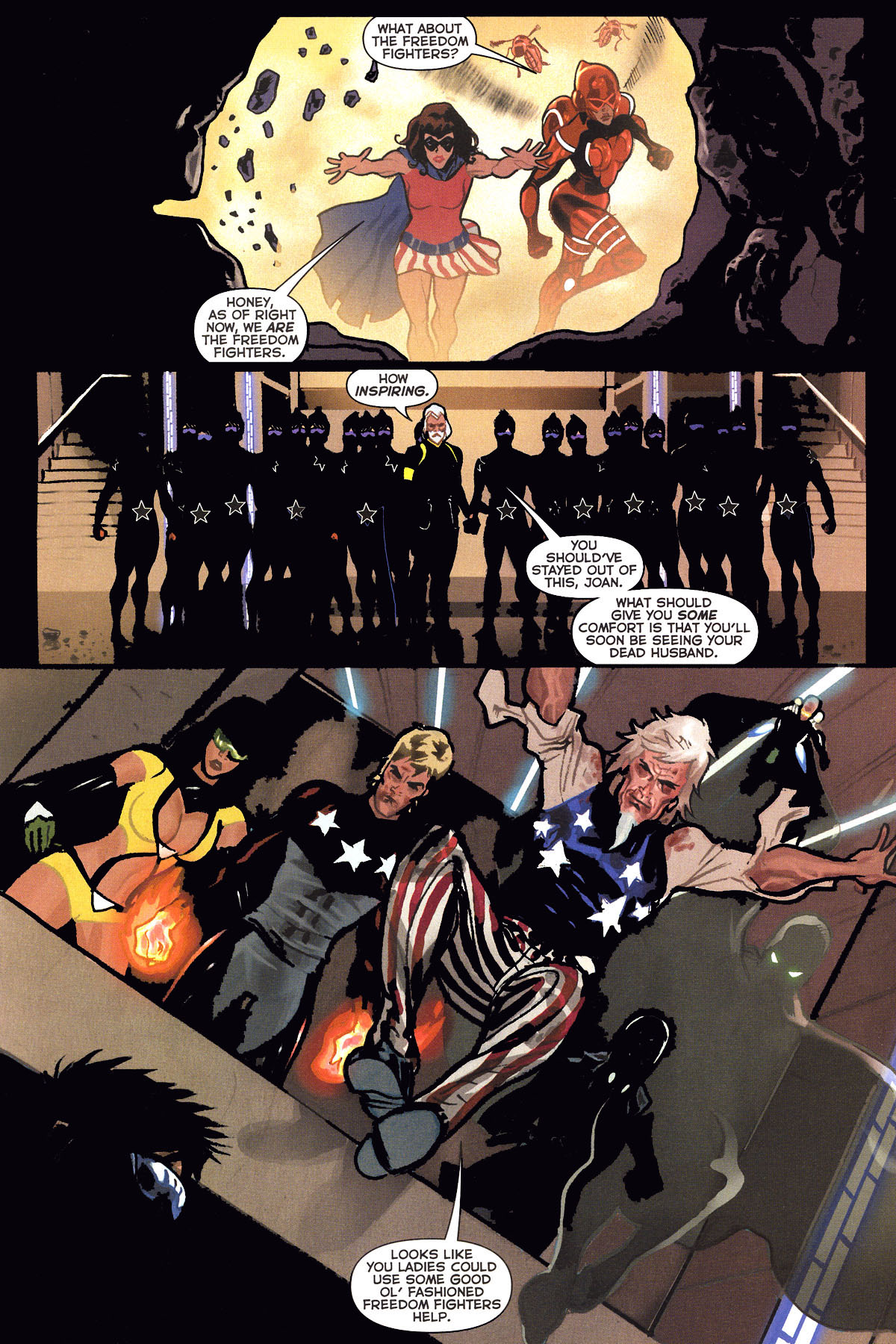 Read online Uncle Sam and the Freedom Fighters (2006) comic -  Issue #6 - 10