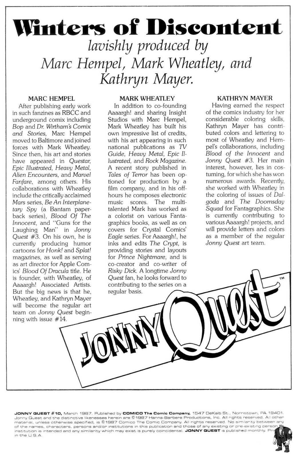 Jonny Quest (1986) issue 10 - Page 2