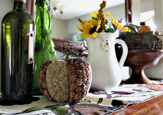 Fall Dining Room and Burlap Wreath