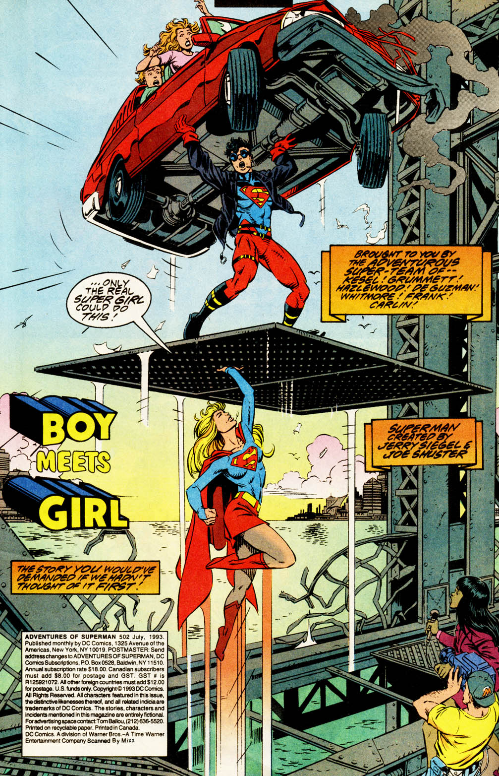 Read online Adventures of Superman (1987) comic -  Issue #502 - 3