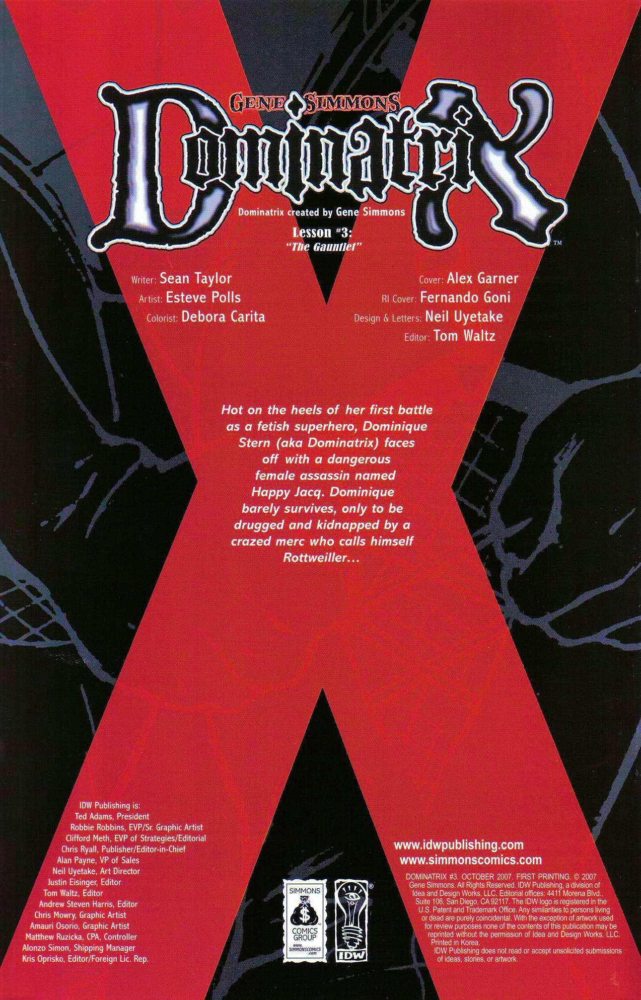 Read online Dominatrix comic -  Issue #3 - 2